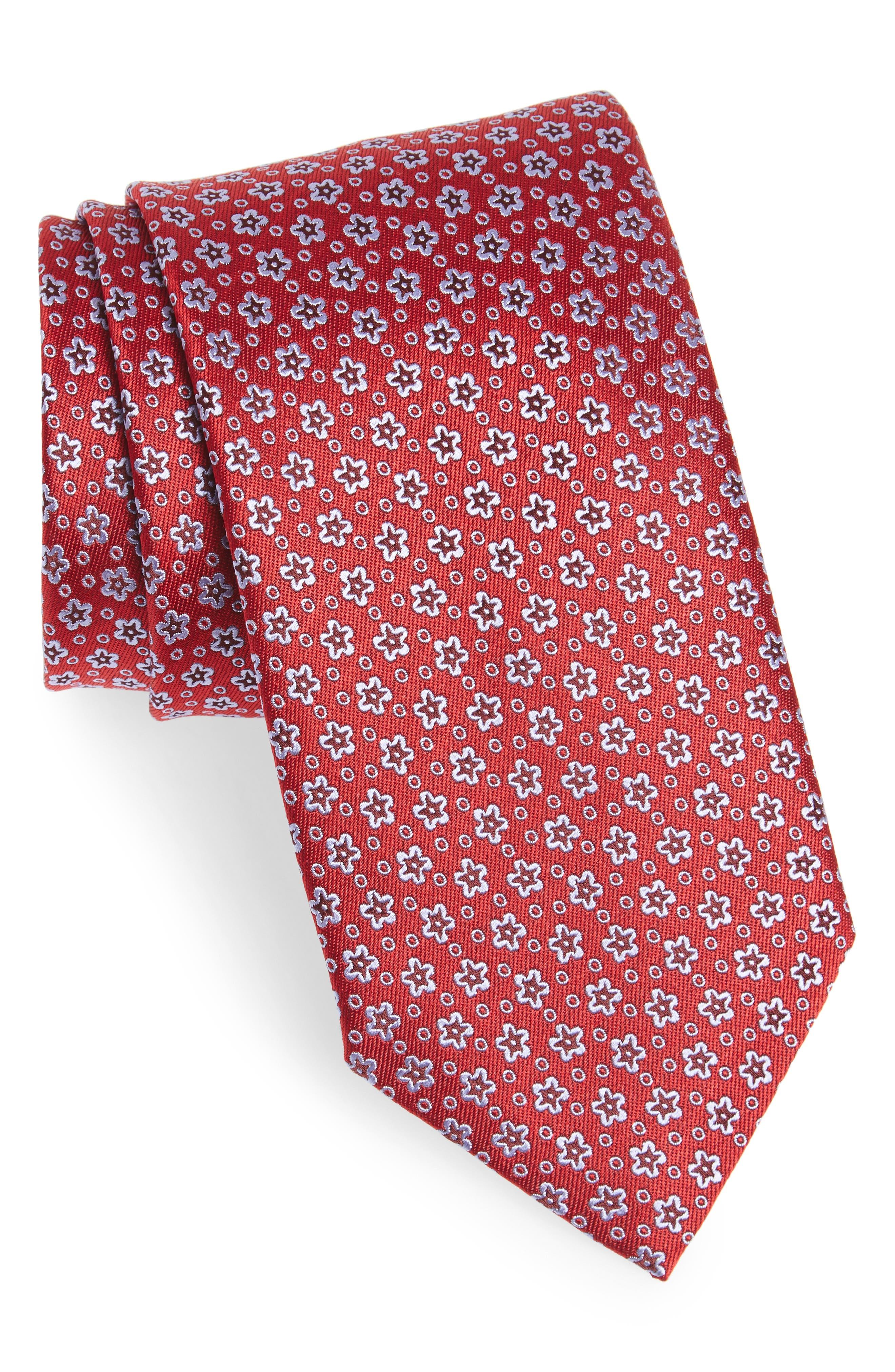 Floral Silk Tie,                             Main thumbnail 2, color,