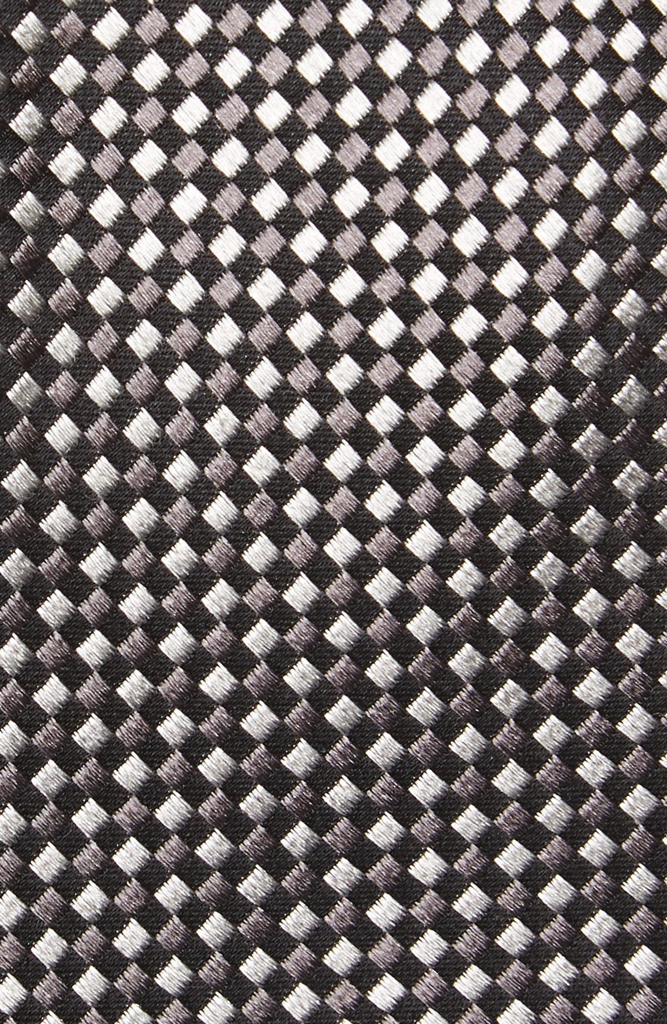Norman Neat Silk Tie,                             Alternate thumbnail 2, color,                             GREY