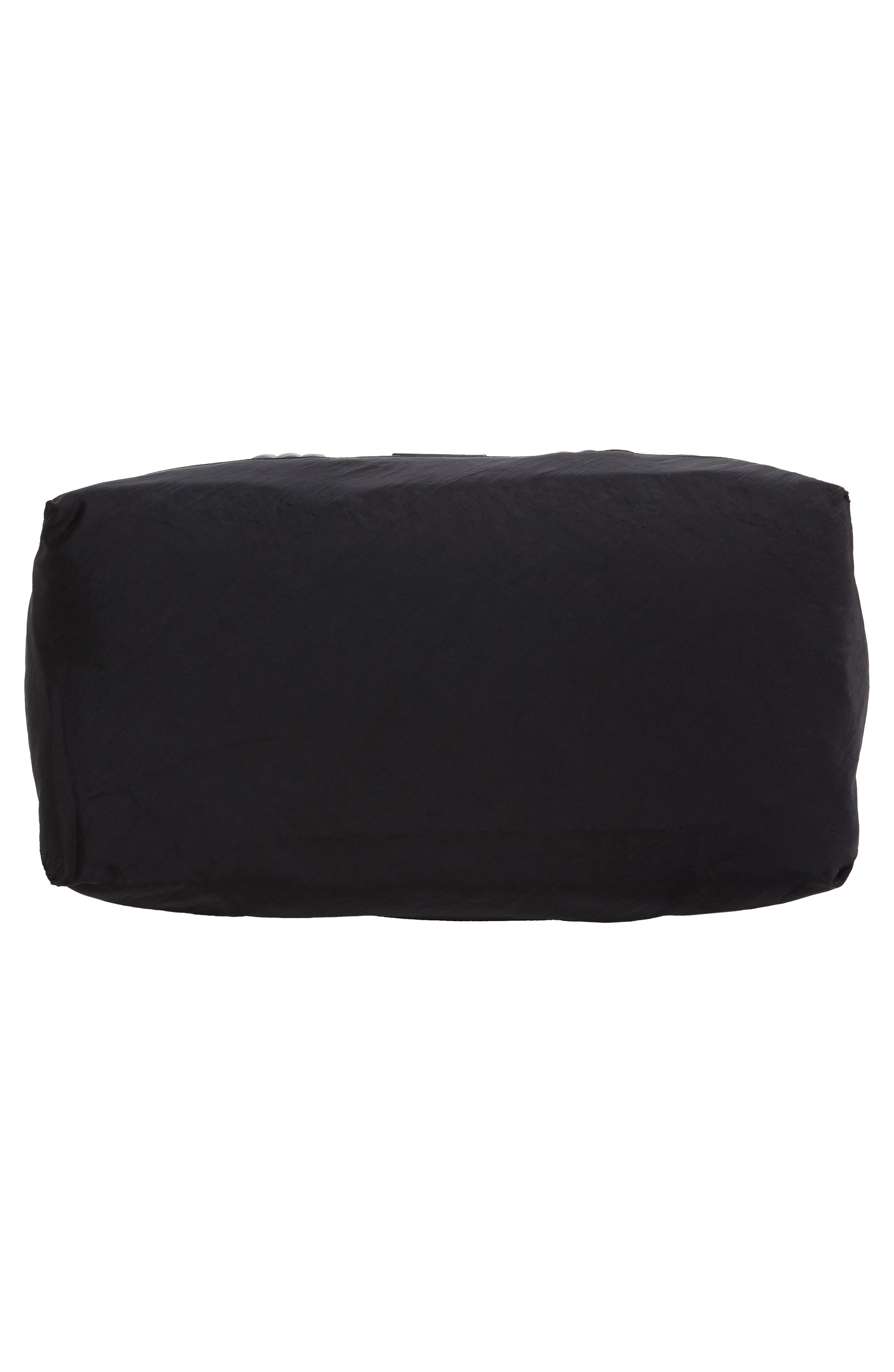 Weekend Nylon Duffel Bag,                             Alternate thumbnail 6, color,                             BLACK