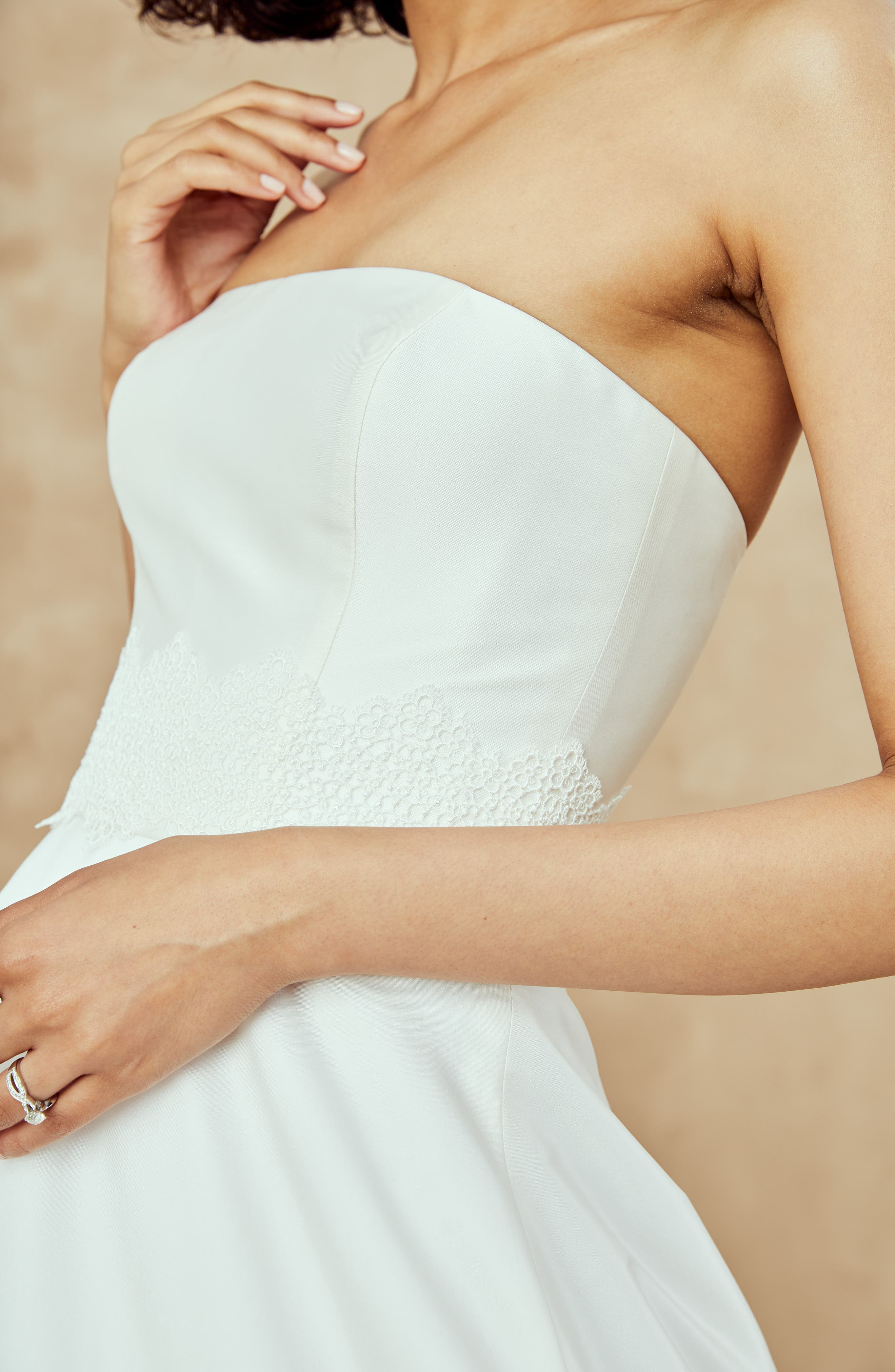 Ana Strapless Ballgown,                             Alternate thumbnail 7, color,                             IVORY