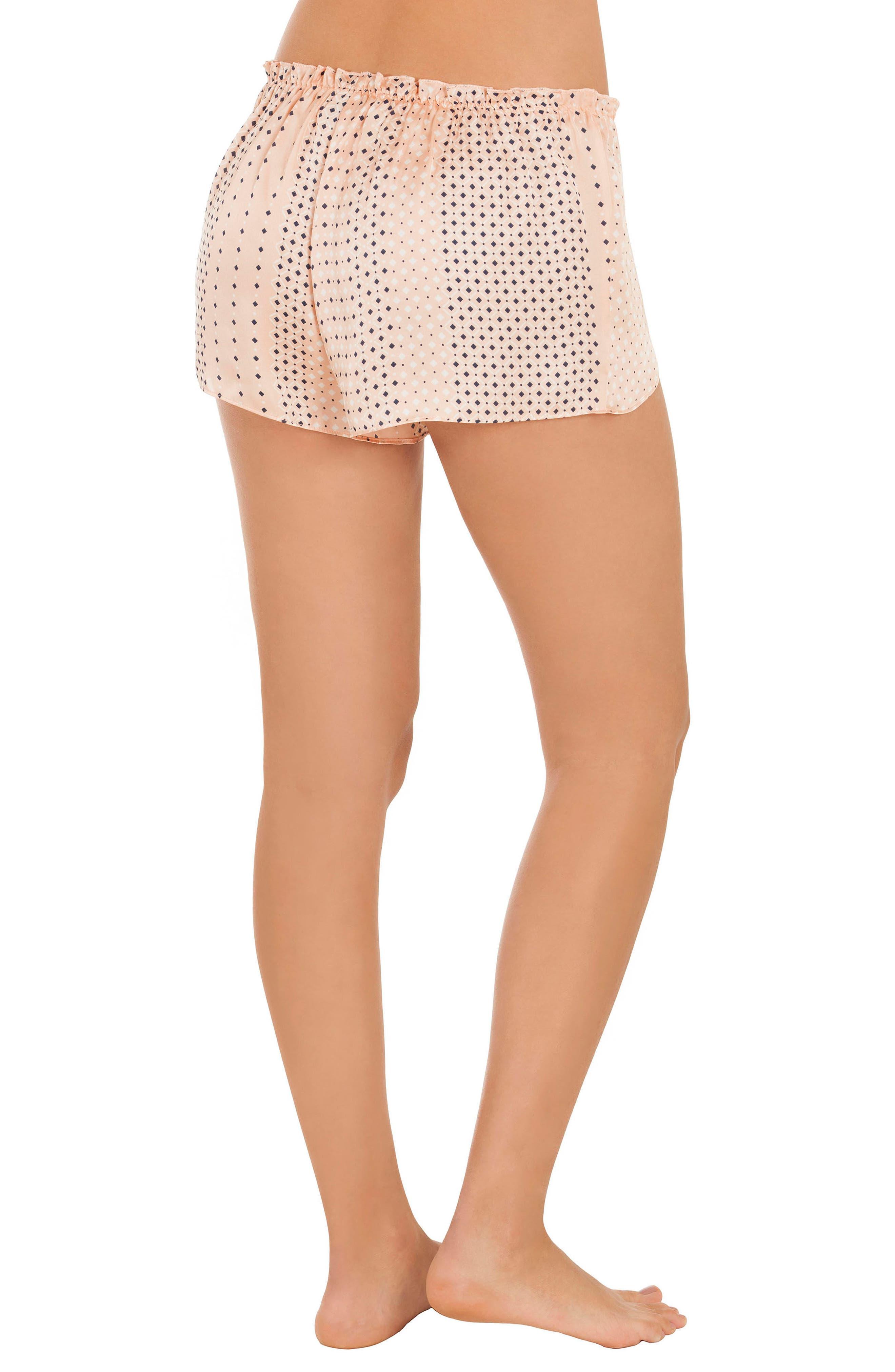 Stripe Pajama Shorts,                             Alternate thumbnail 2, color,                             952