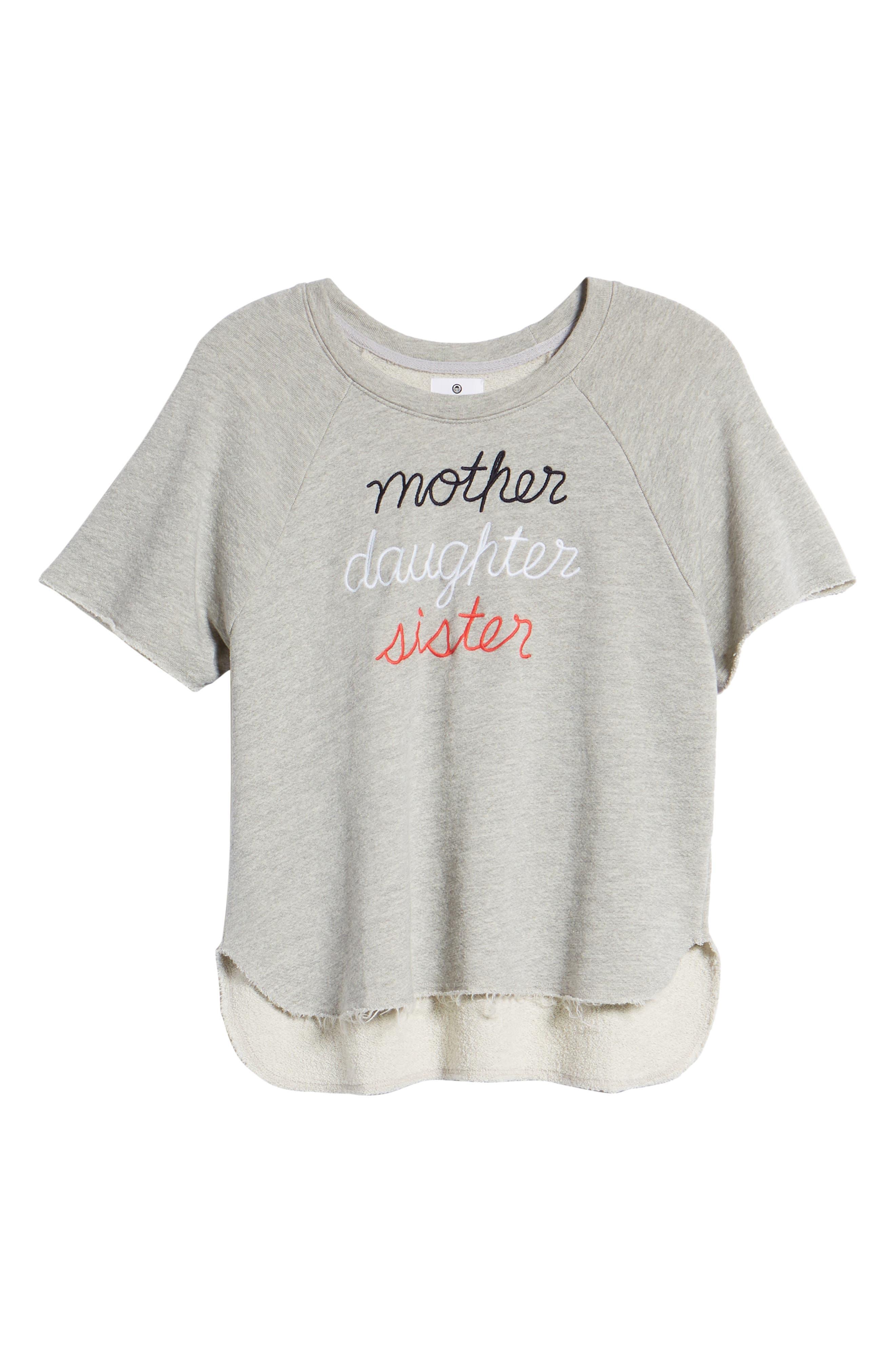 Mother Daughter Sister Sweatshirt,                             Alternate thumbnail 6, color,                             039