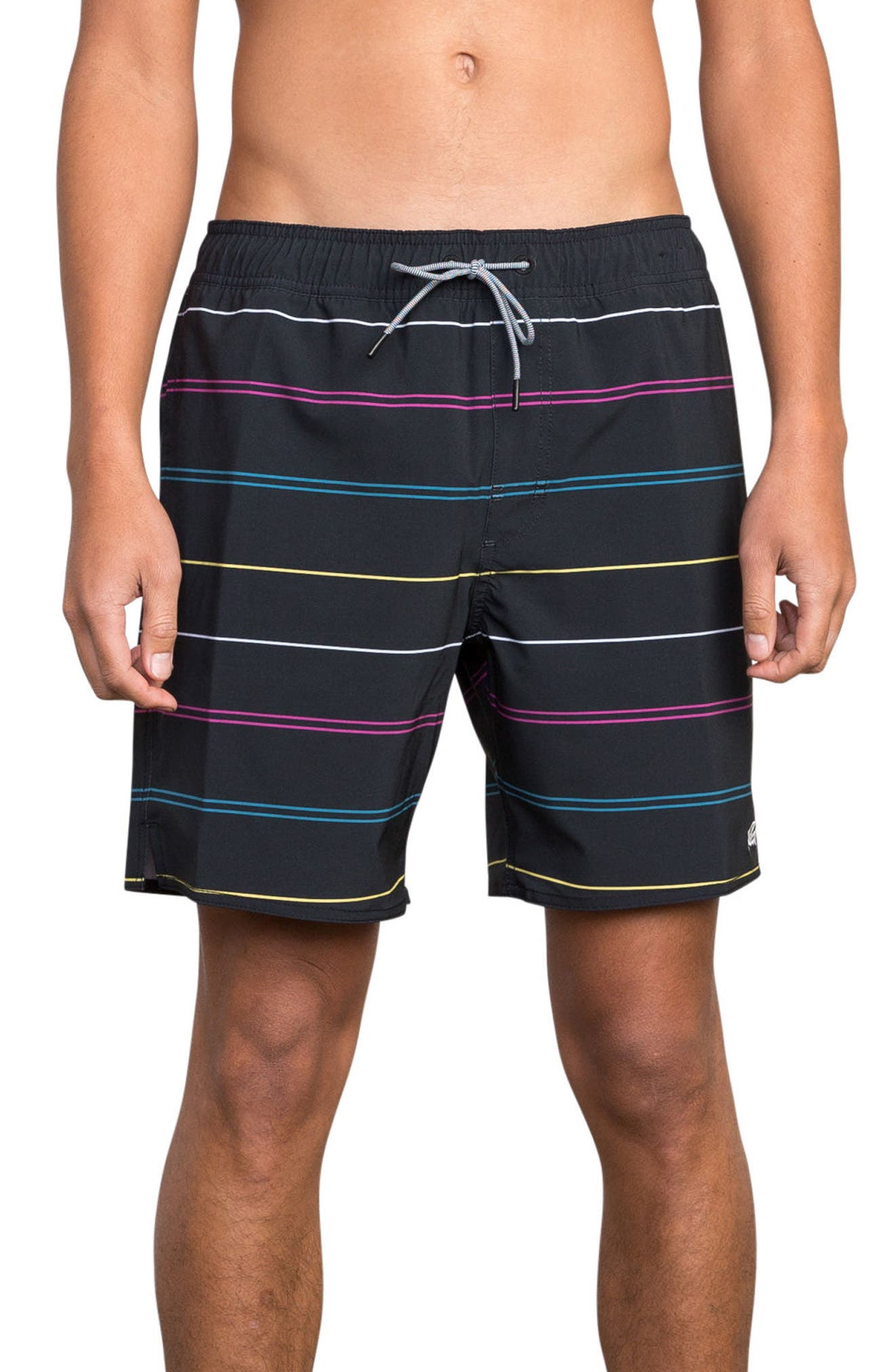 Middle Elastic Swim Trunks,                             Main thumbnail 1, color,                             008