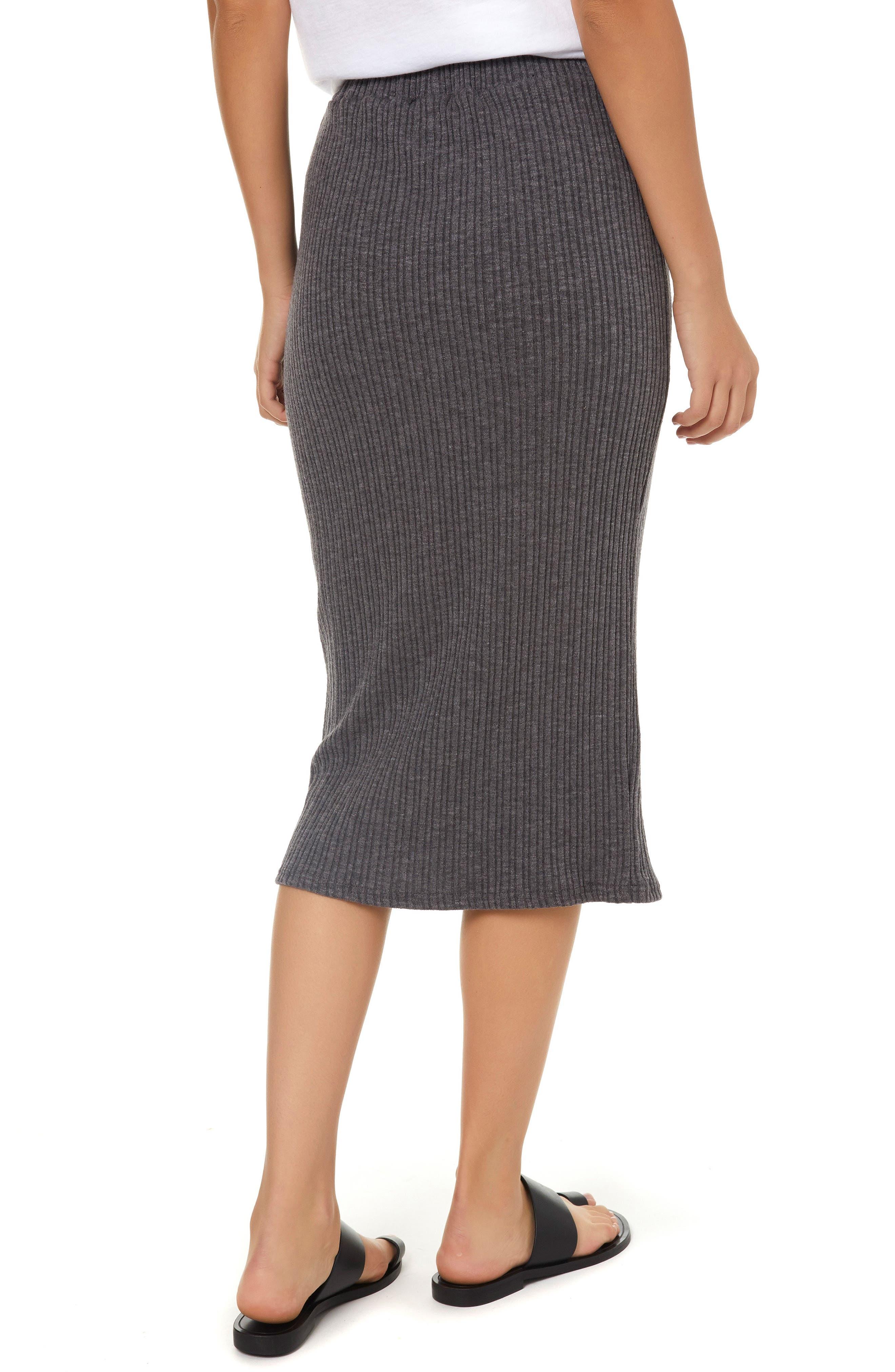 Candi Rib Knit Midi Skirt,                             Alternate thumbnail 2, color,                             020