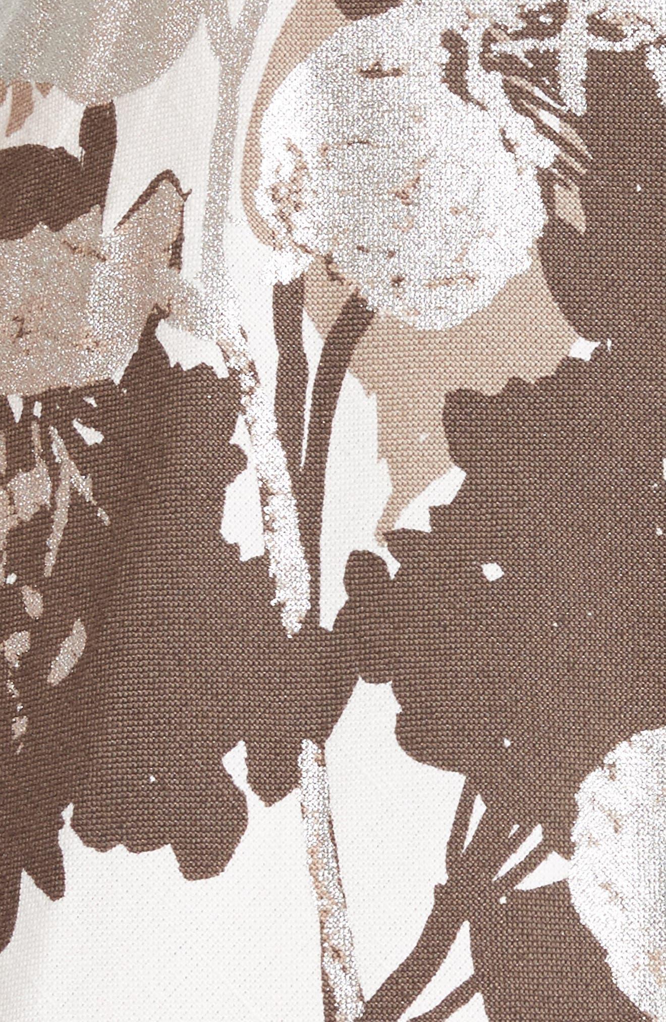 Arlene Print Midi Dress,                             Alternate thumbnail 5, color,                             125
