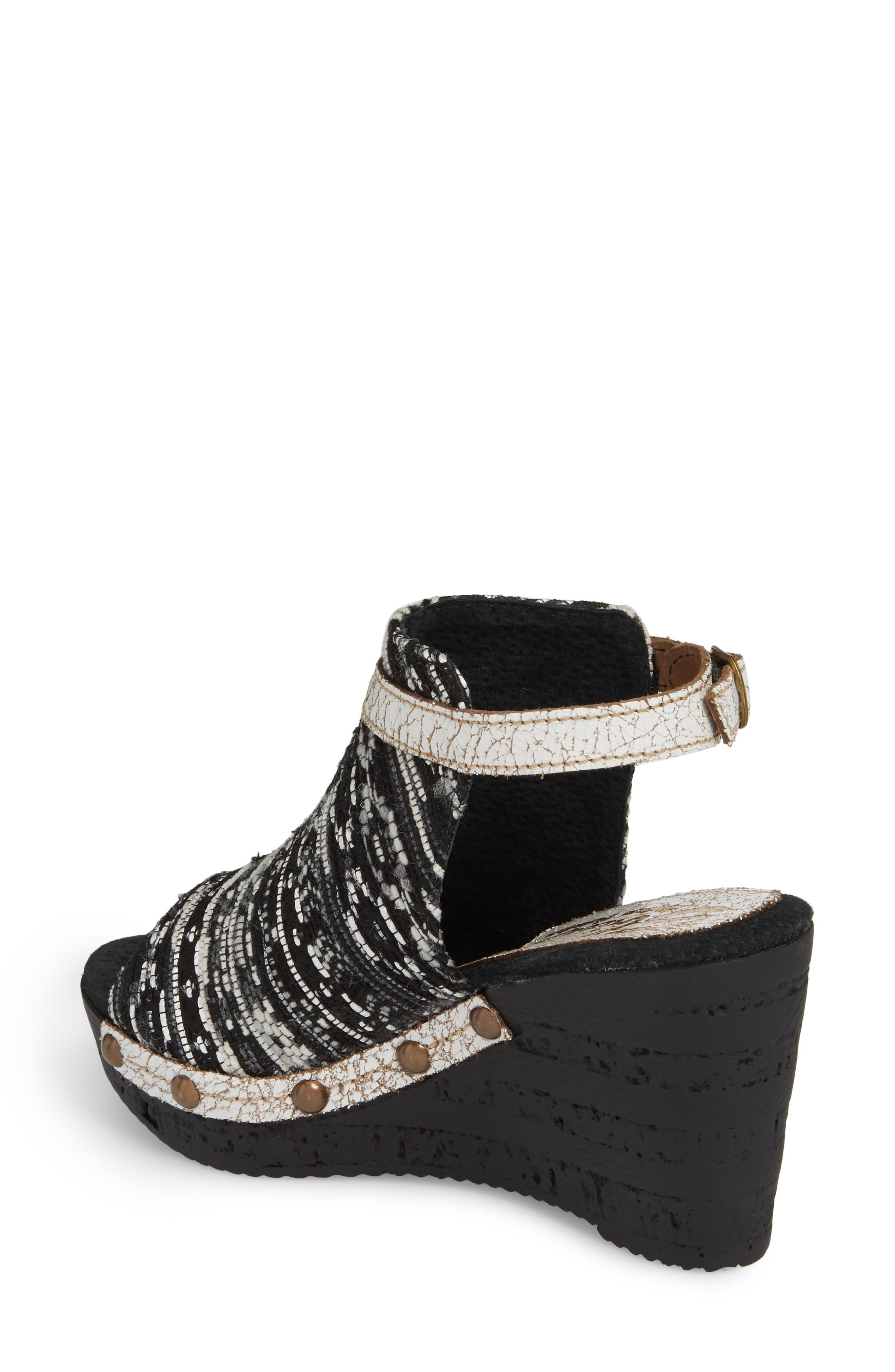SBICCA,                             Sabari Peep Toe Wedge Sandal,                             Alternate thumbnail 2, color,                             001