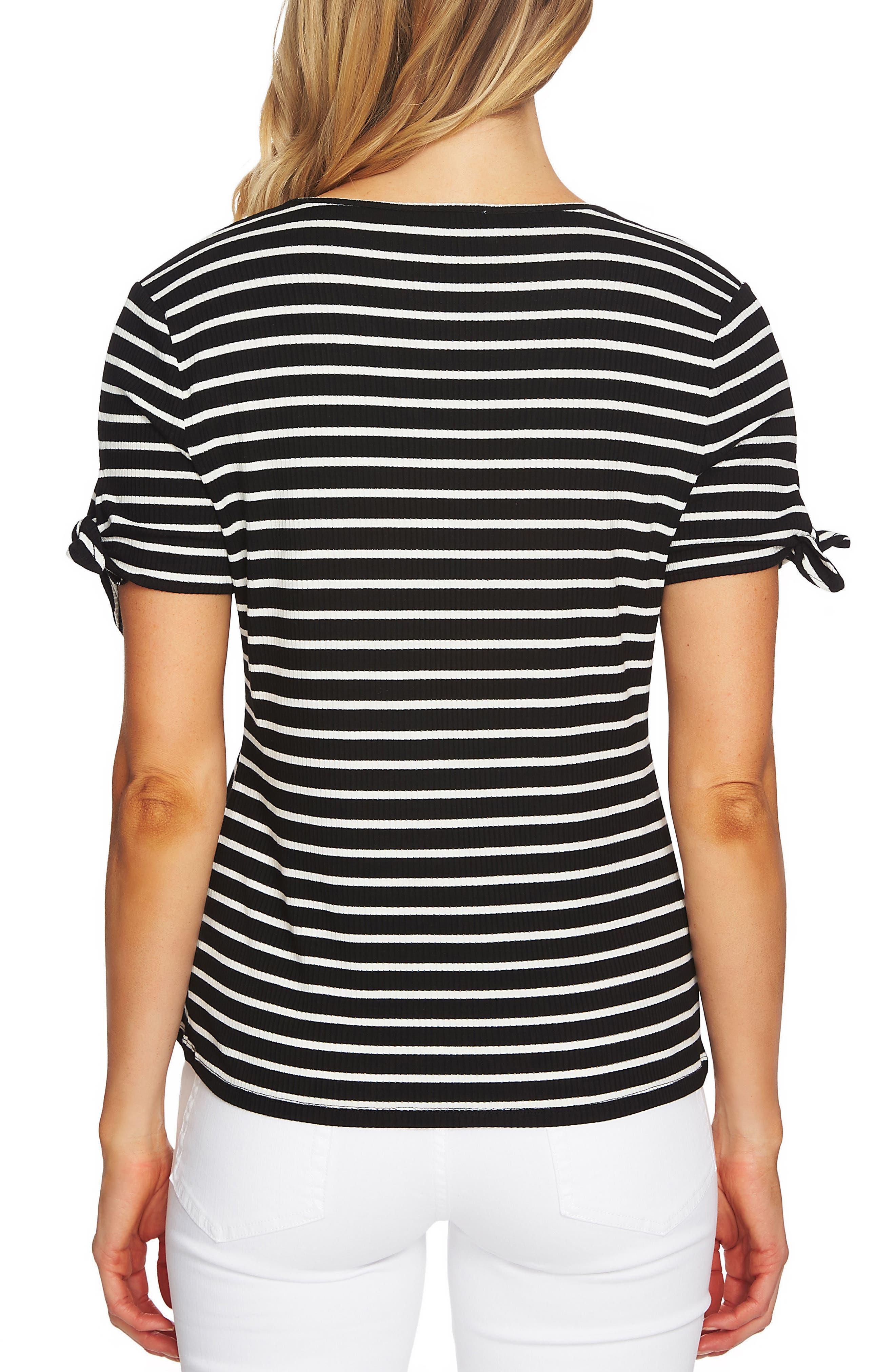 Stripe Rib Knit Top,                             Alternate thumbnail 2, color,                             006