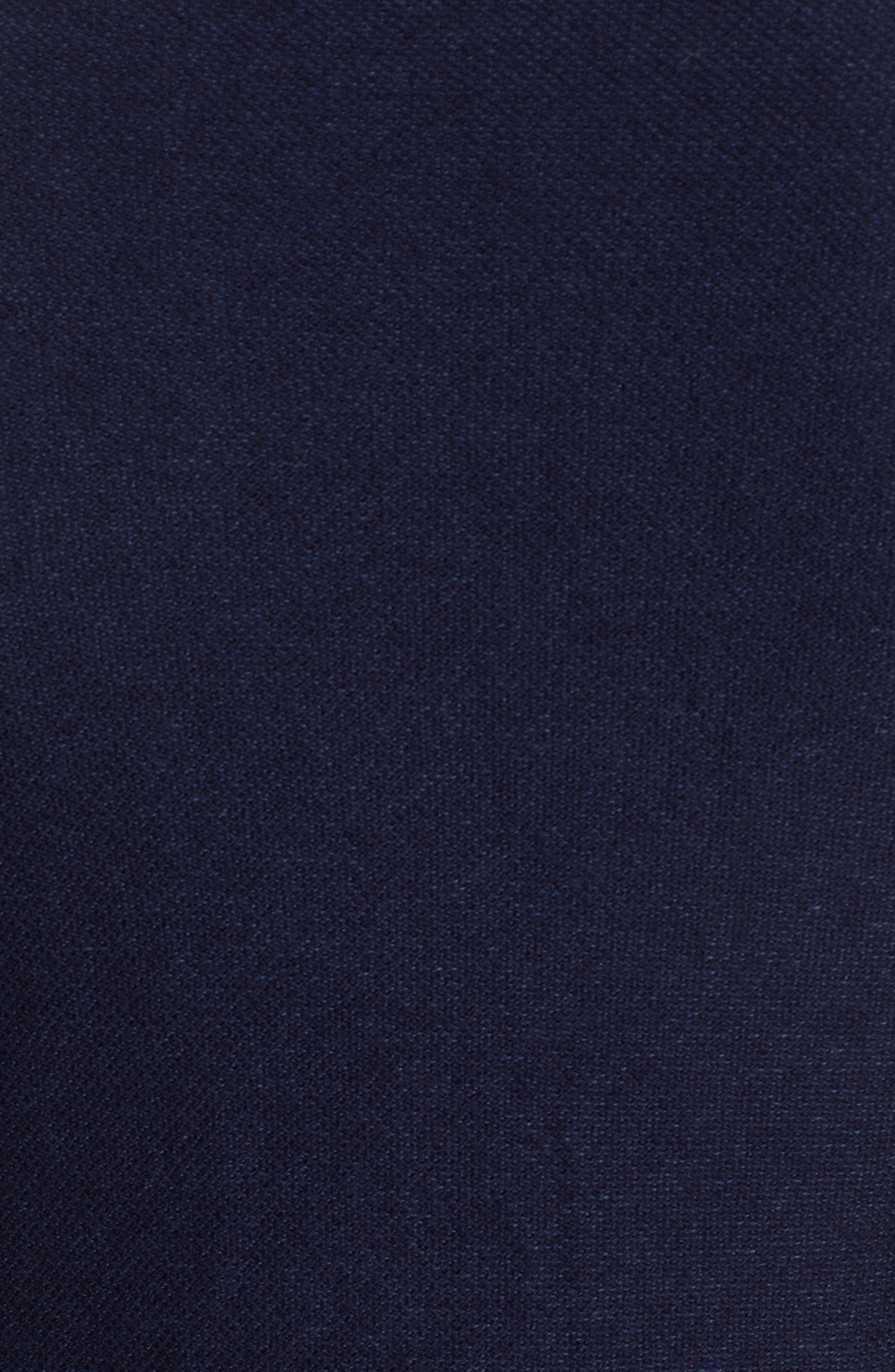 Cotton & Cashmere Bomber Sweater,                             Alternate thumbnail 5, color,                             MIDNIGHT BLUE