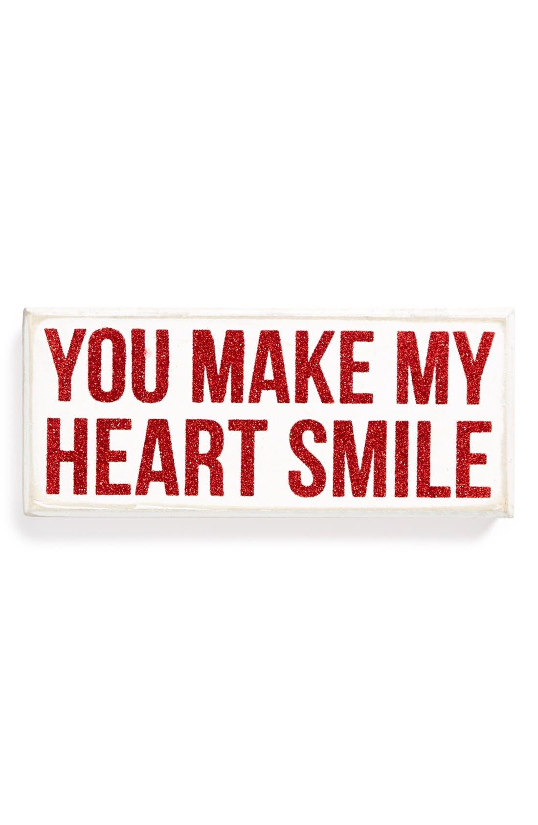 'Smile' Box Sign,                             Main thumbnail 1, color,                             001