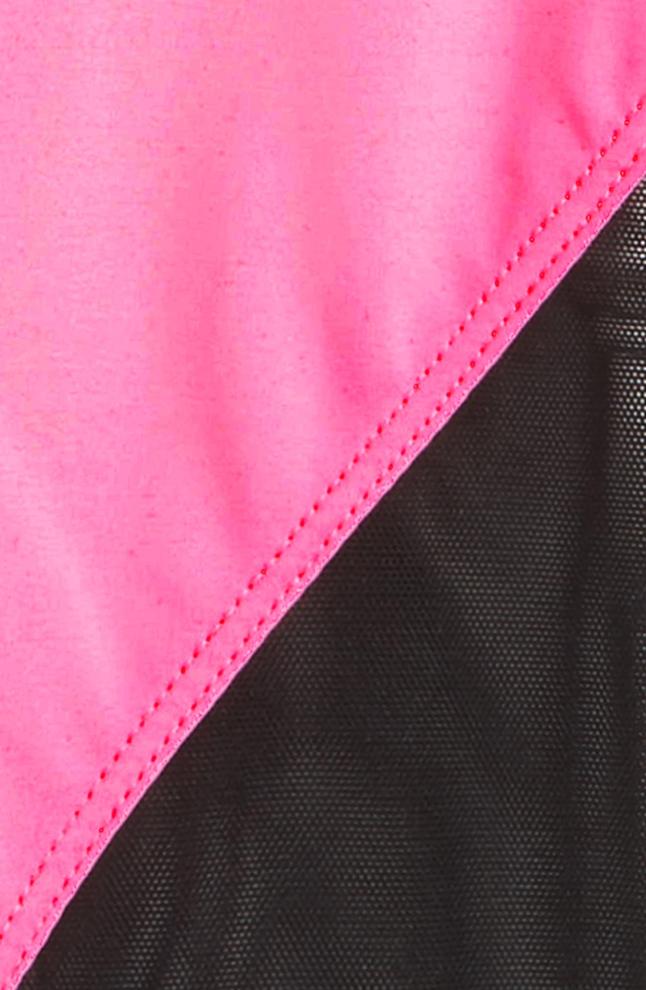 Track Leggings,                             Main thumbnail 1, color,                             BLACK/ TROPIC PINK/ BLACK MESH