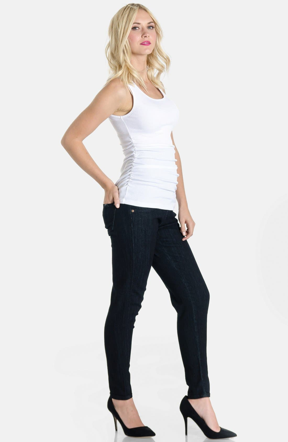 Skinny Maternity Jeans,                             Alternate thumbnail 18, color,