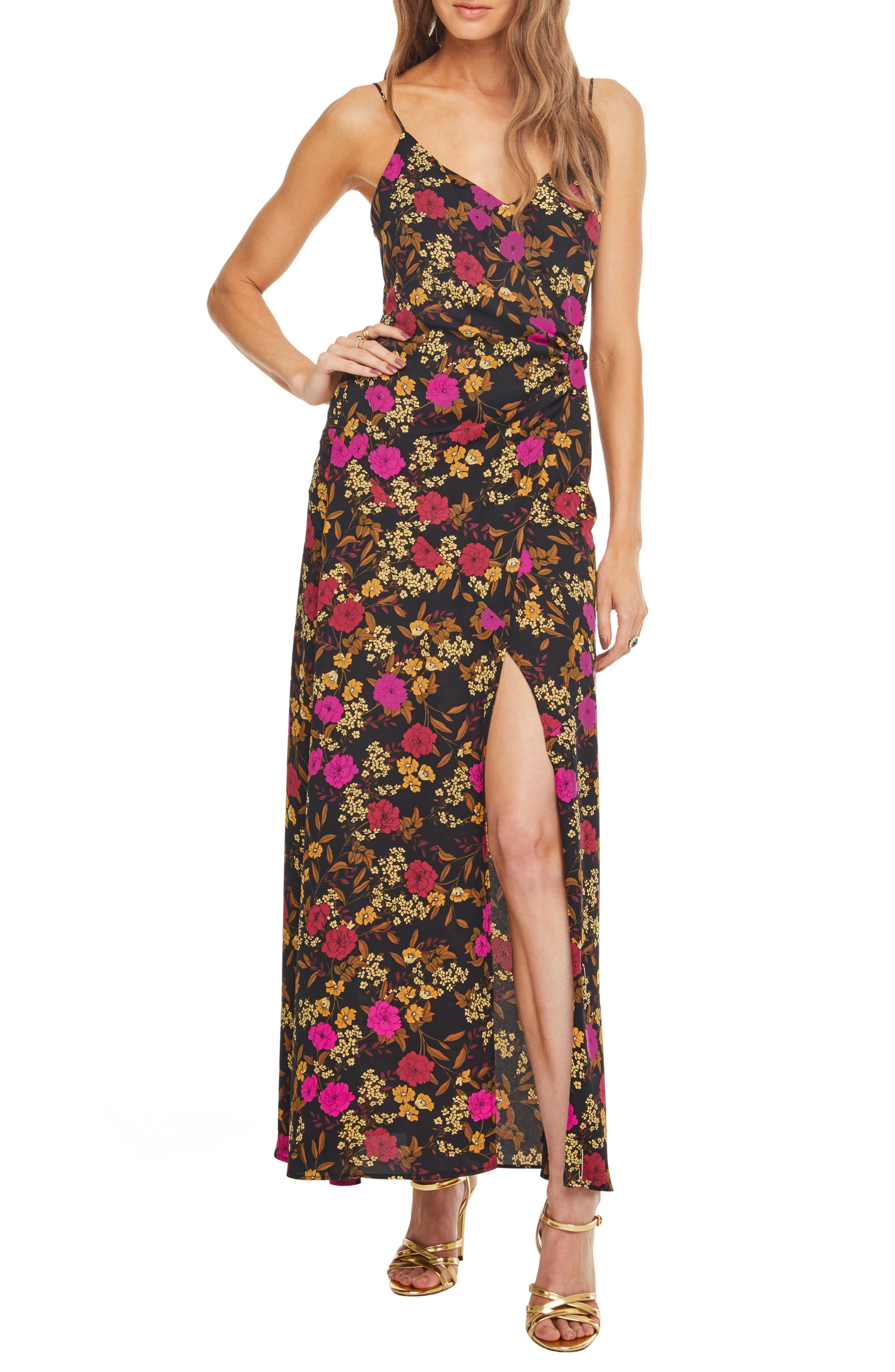 Astr The Label Valentina Maxi Dress, Black