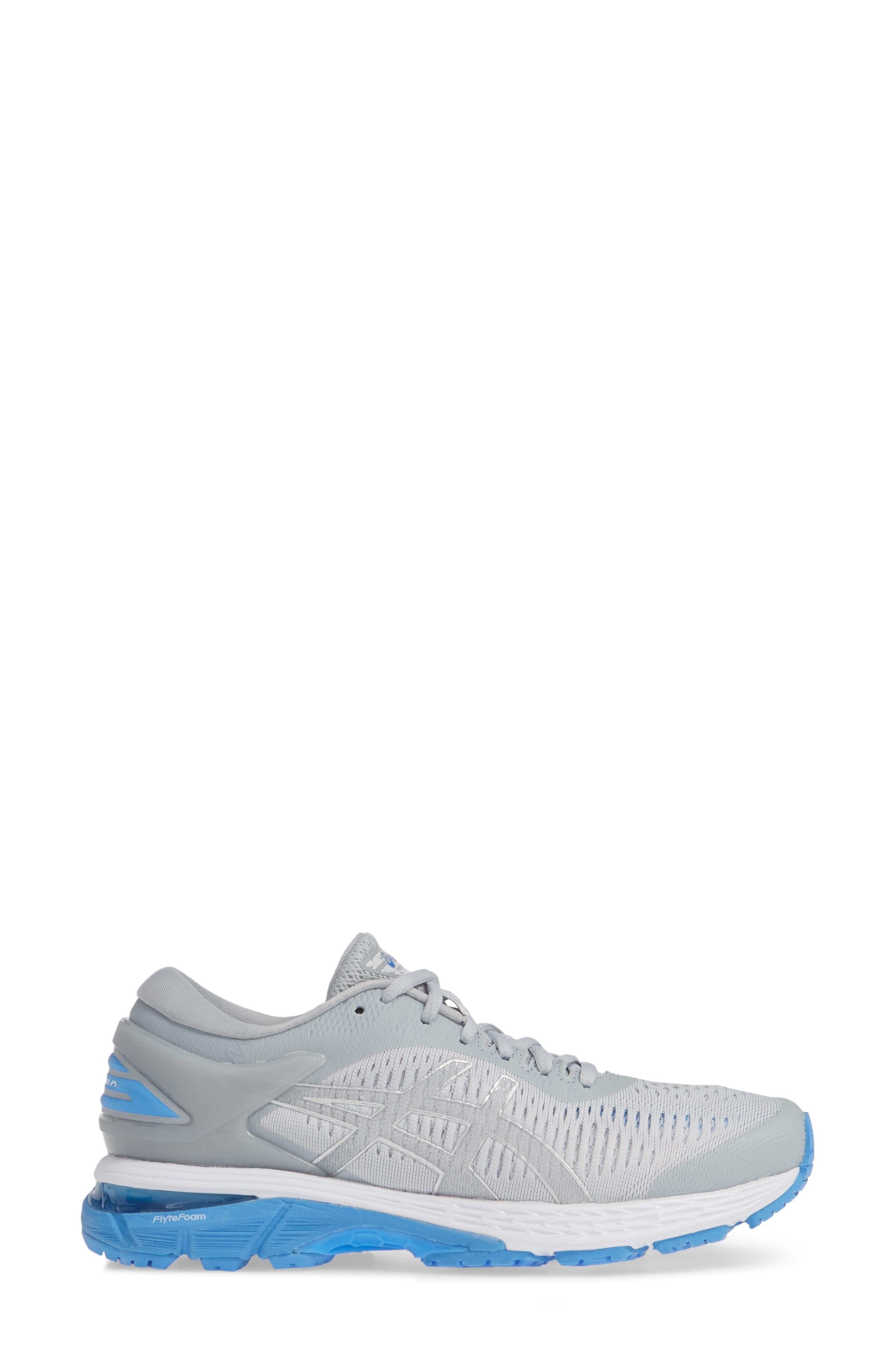 GEL-Kayano<sup>®</sup> 25 Running Shoe,                             Alternate thumbnail 3, color,                             MID GREY/ BLUE