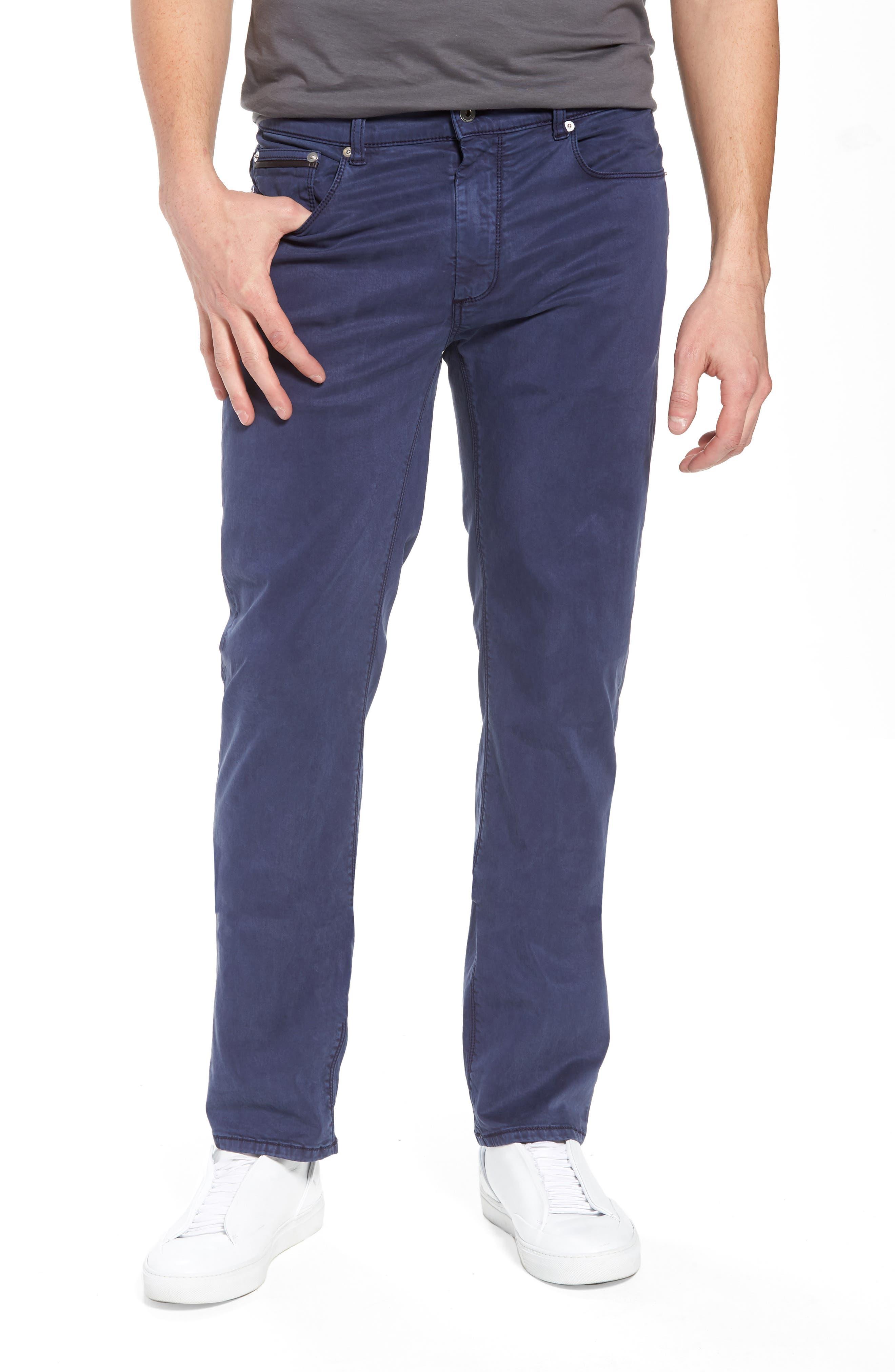 Slim Fit Washed Five-Pocket Pants,                             Main thumbnail 3, color,