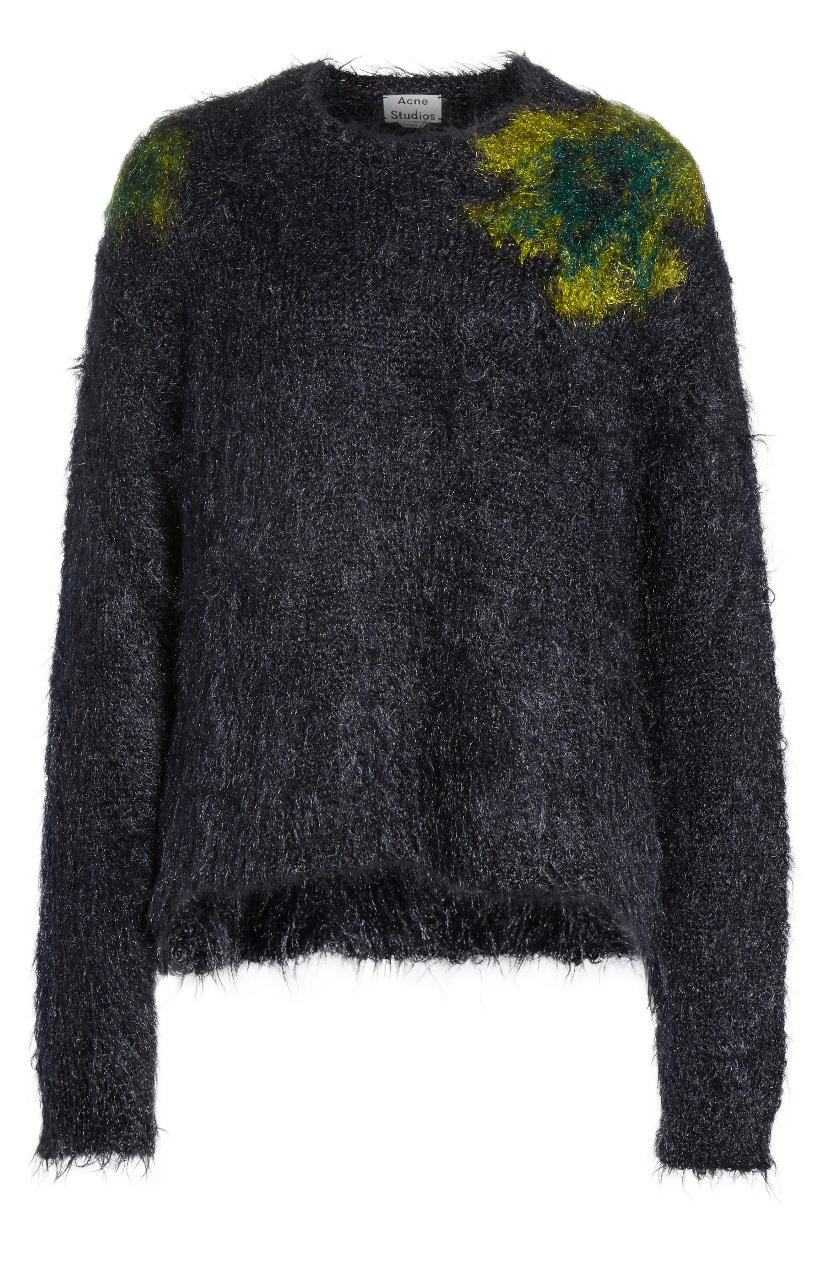 Fhira Hairy Oversize Sweater,                             Alternate thumbnail 6, color,                             415