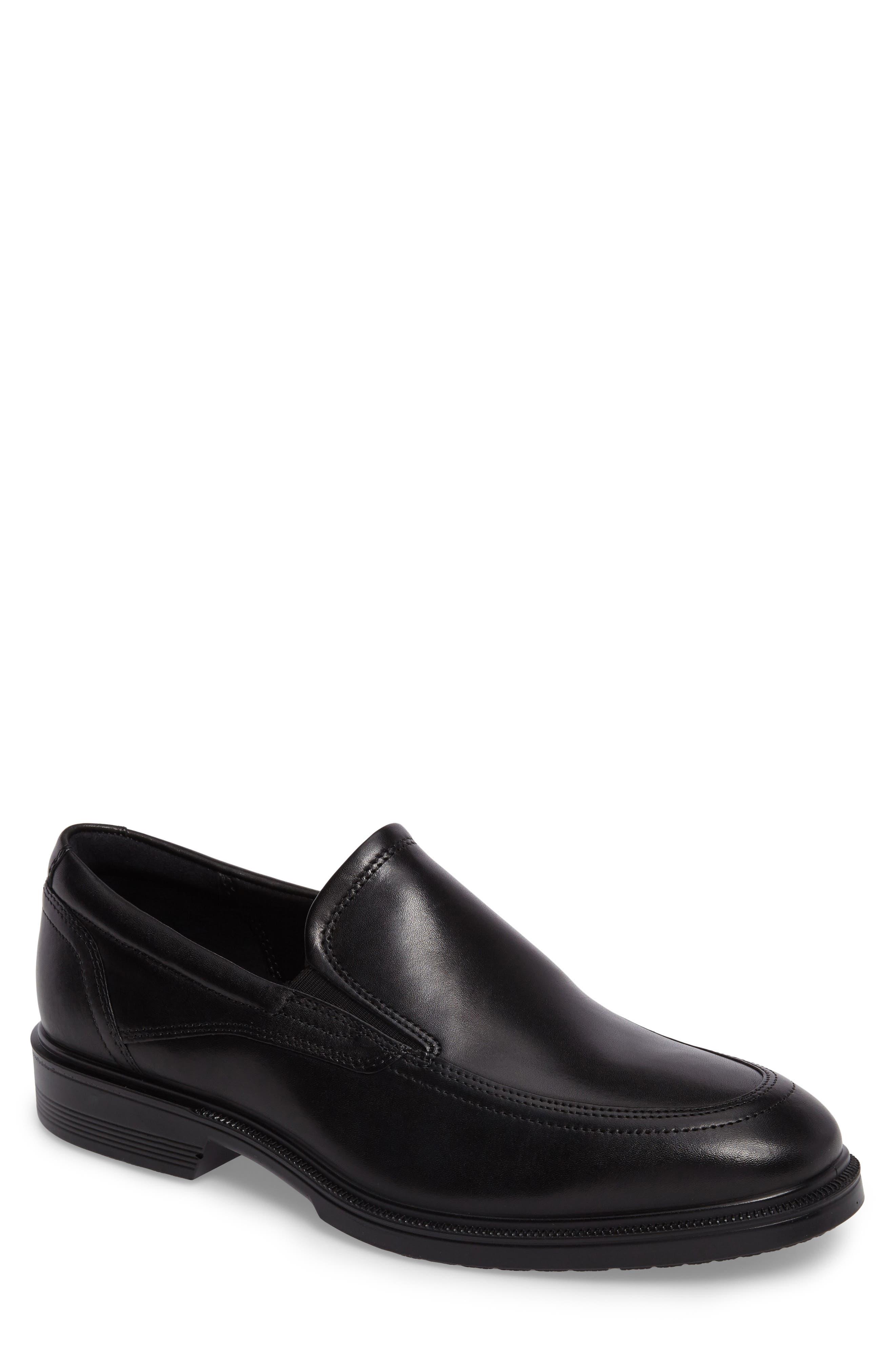 Lisbon Loafer, Main, color, BLACK LEATHER