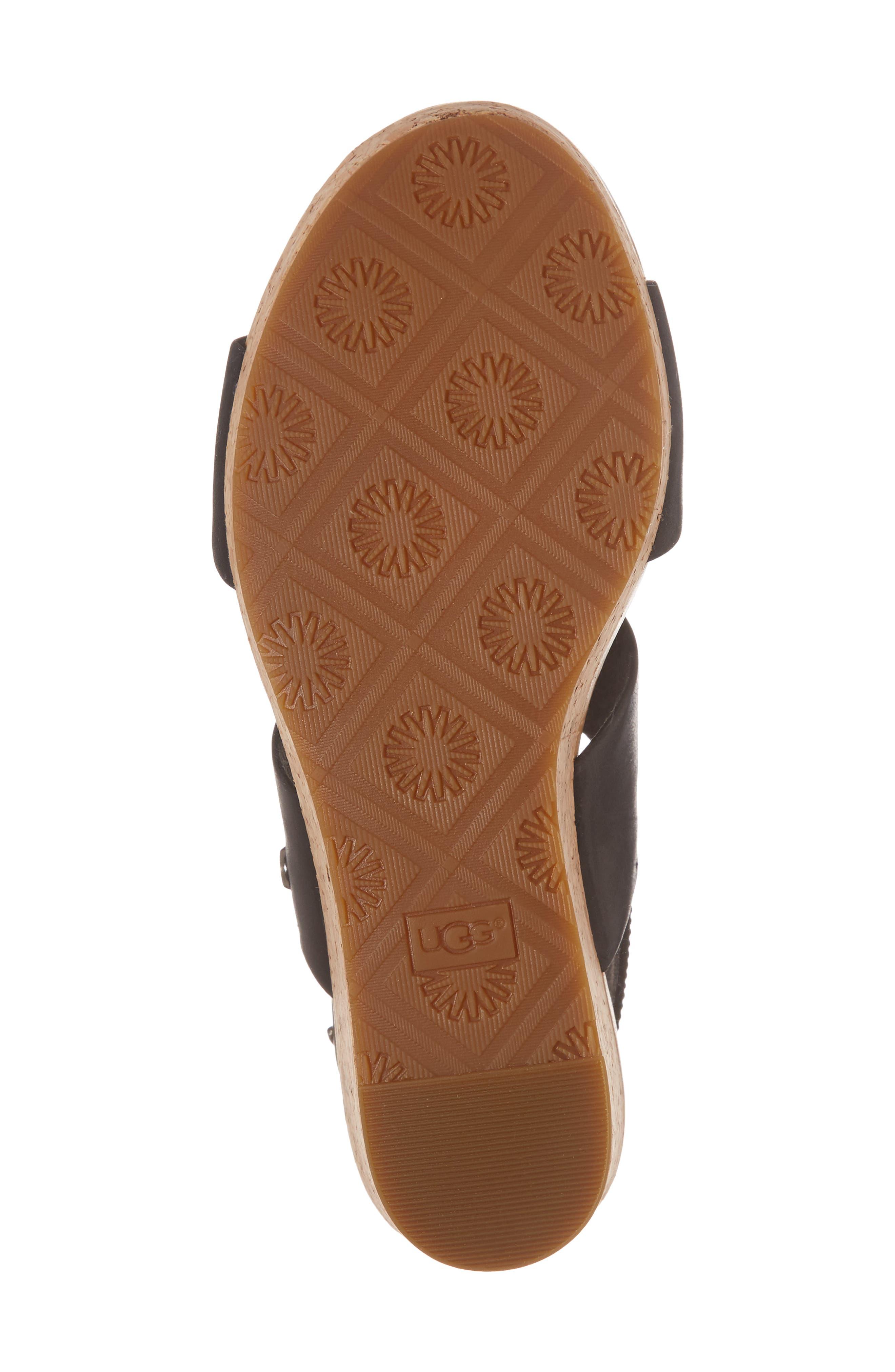 Elena II Platform Wedge Sandal,                             Alternate thumbnail 6, color,                             001