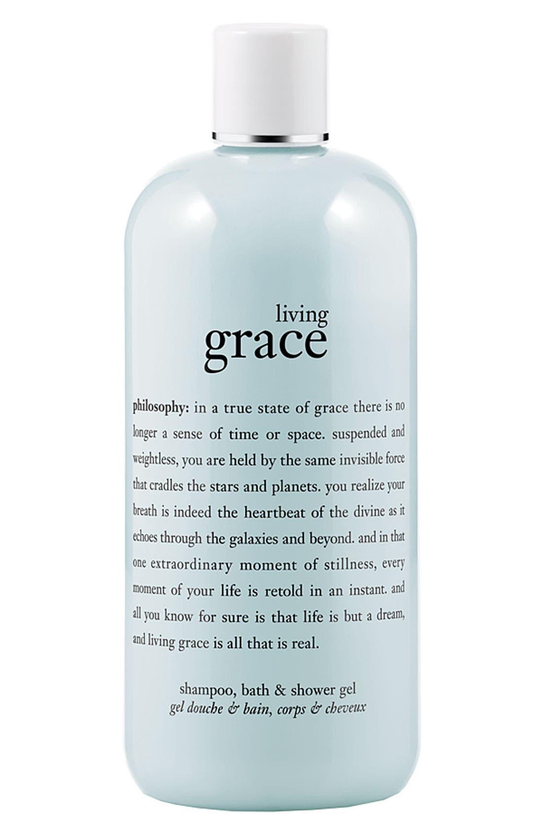 'living grace' shampoo, bath & shower gel,                         Main,                         color, 000