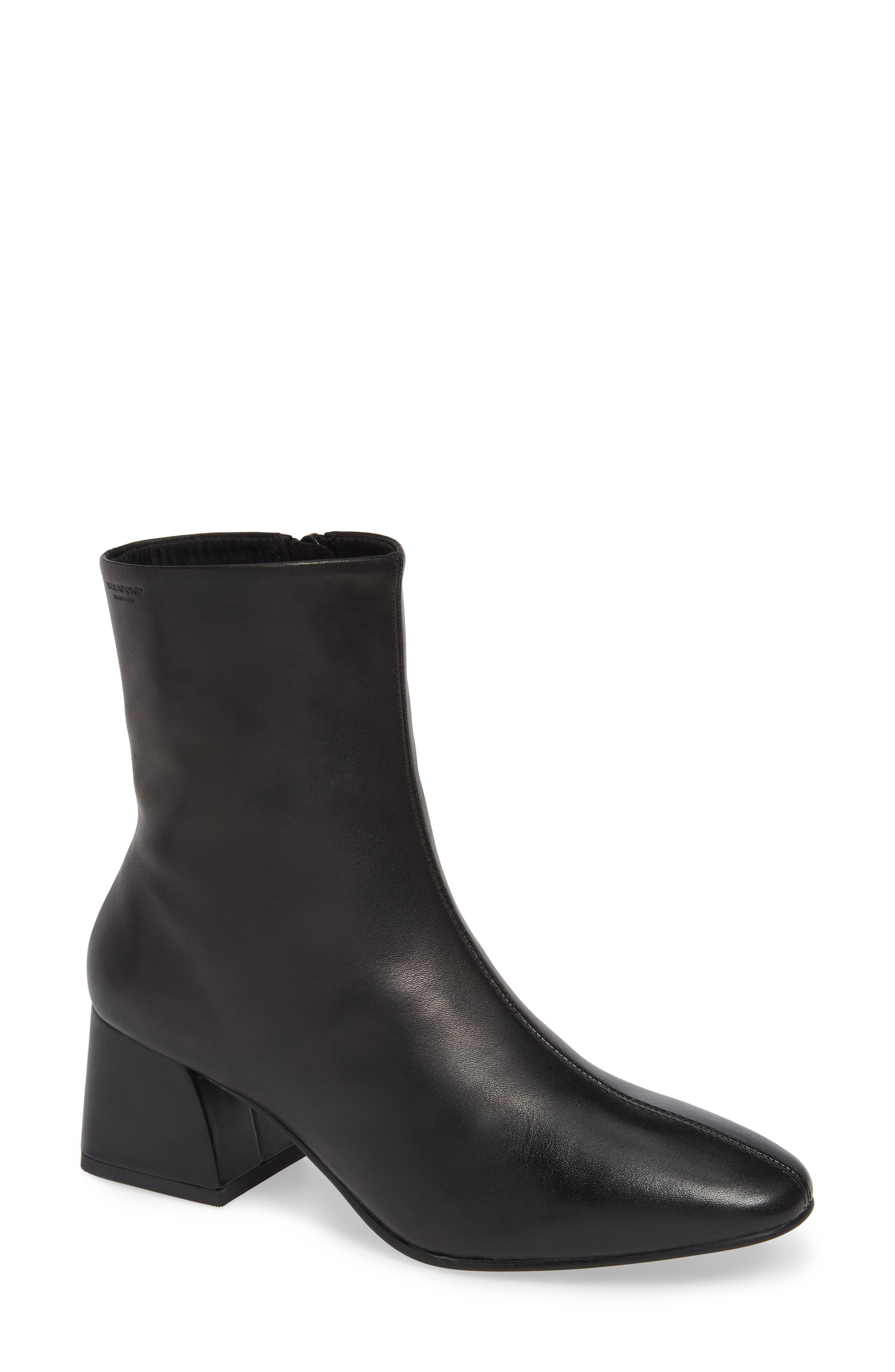 Shoemakers Alice Bootie,                             Main thumbnail 1, color,                             BLACK LEATHER