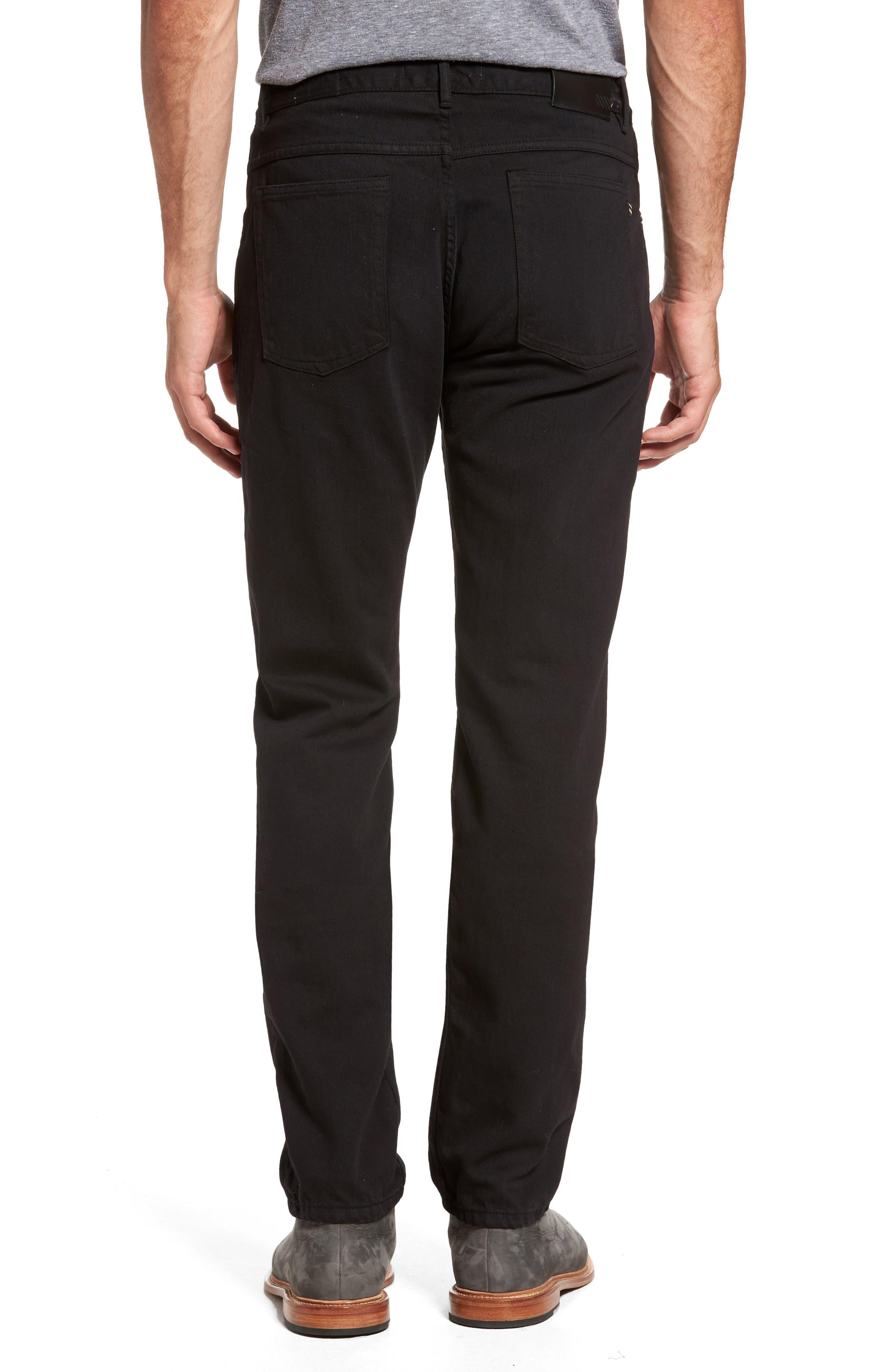Slim Straight Leg Pants,                             Alternate thumbnail 2, color,                             001