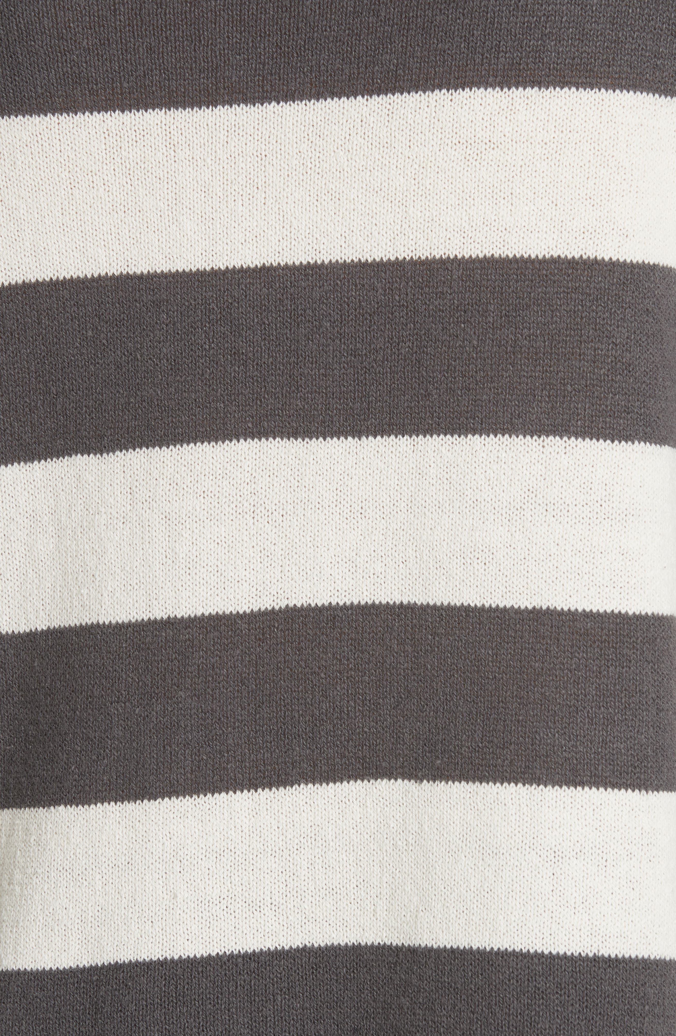 Stripe Cotton & Hemp Sweater,                             Alternate thumbnail 5, color,                             166
