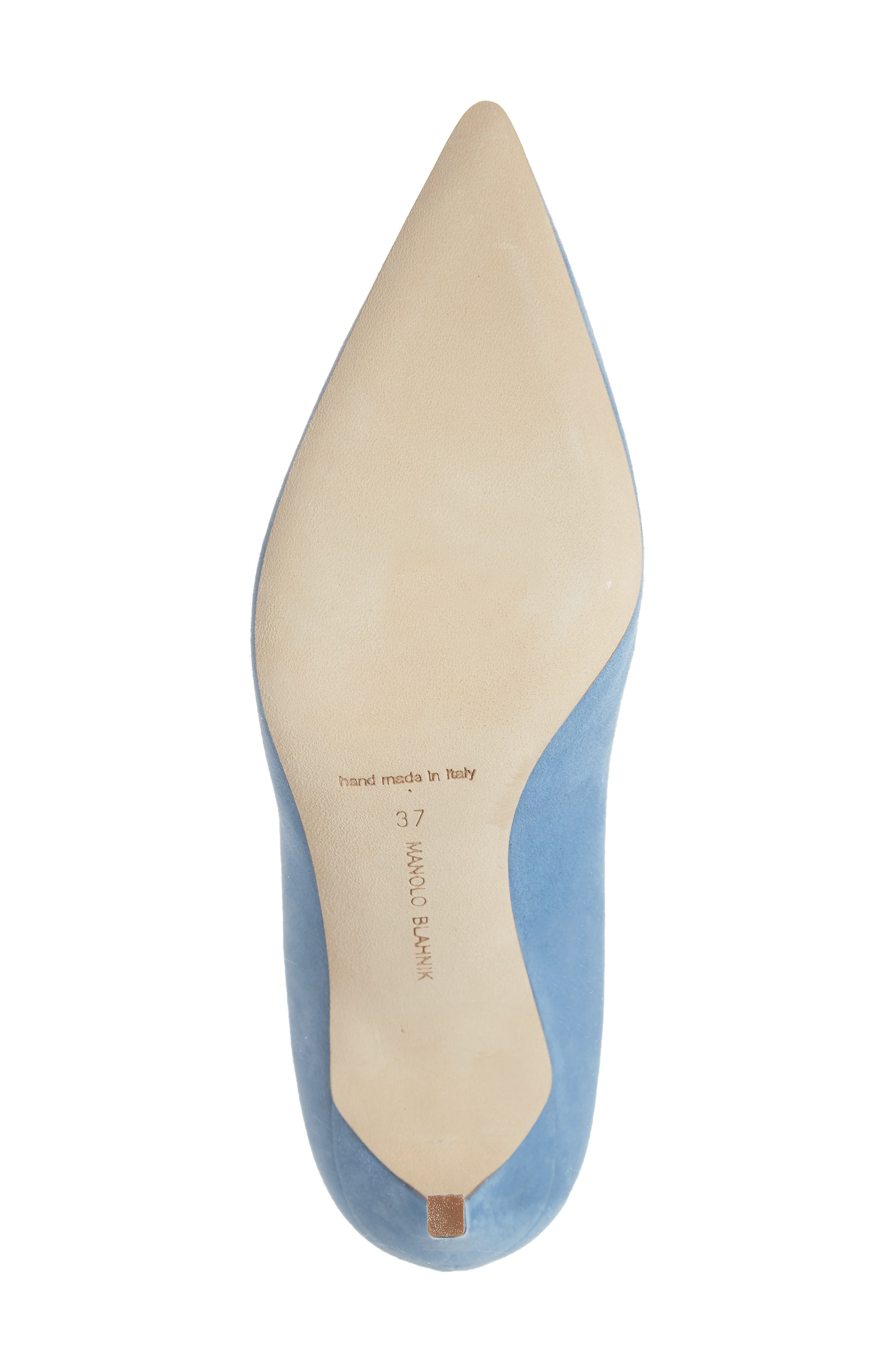 BB Pointy Toe Pump,                             Alternate thumbnail 6, color,                             POWDER BLUE SUEDE