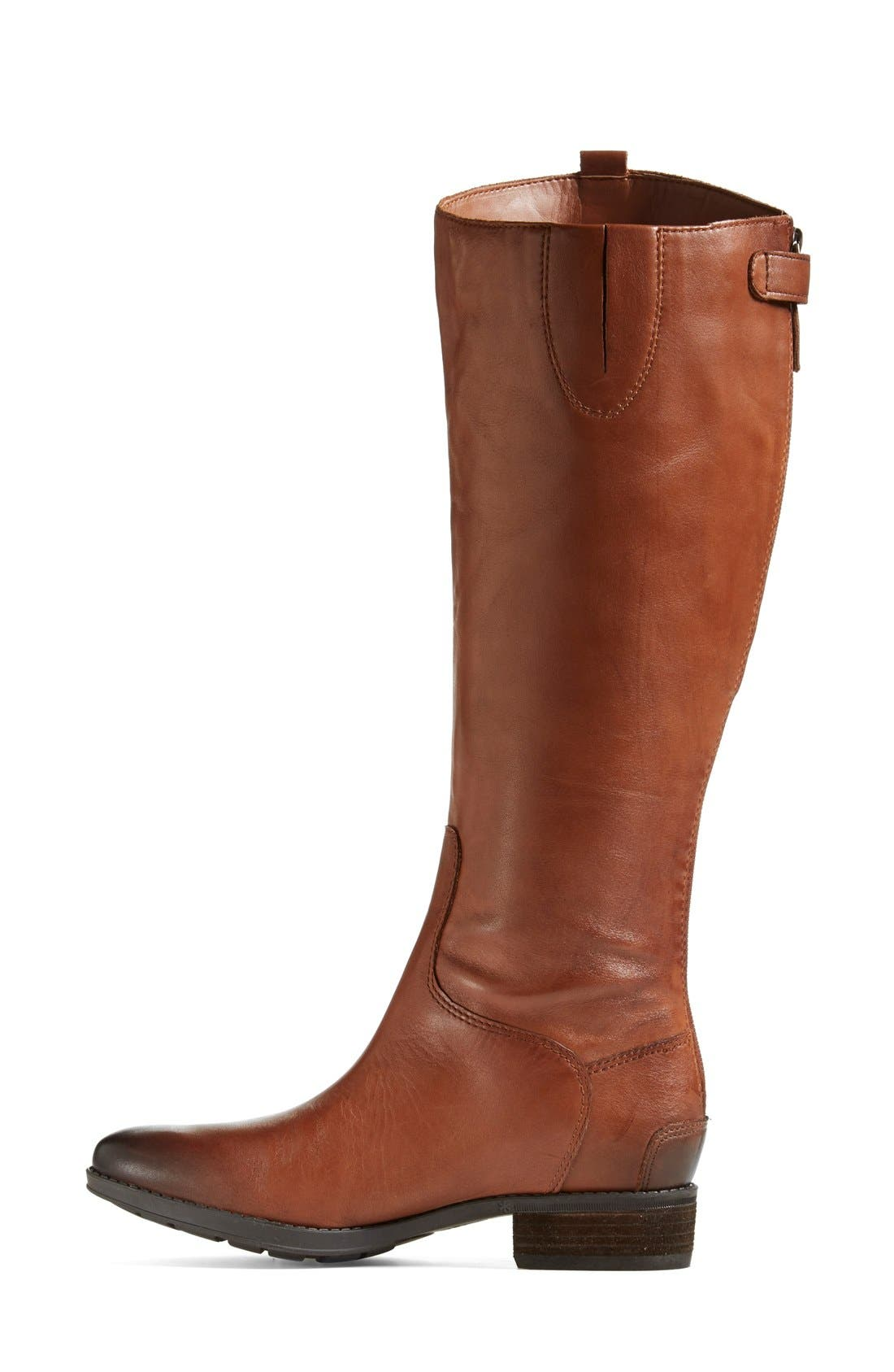 'Penny' Boot,                             Alternate thumbnail 9, color,                             WHISKEY WIDE CALF