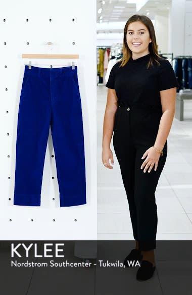 Elvie High Waist Crop Corduroy Trousers, sales video thumbnail