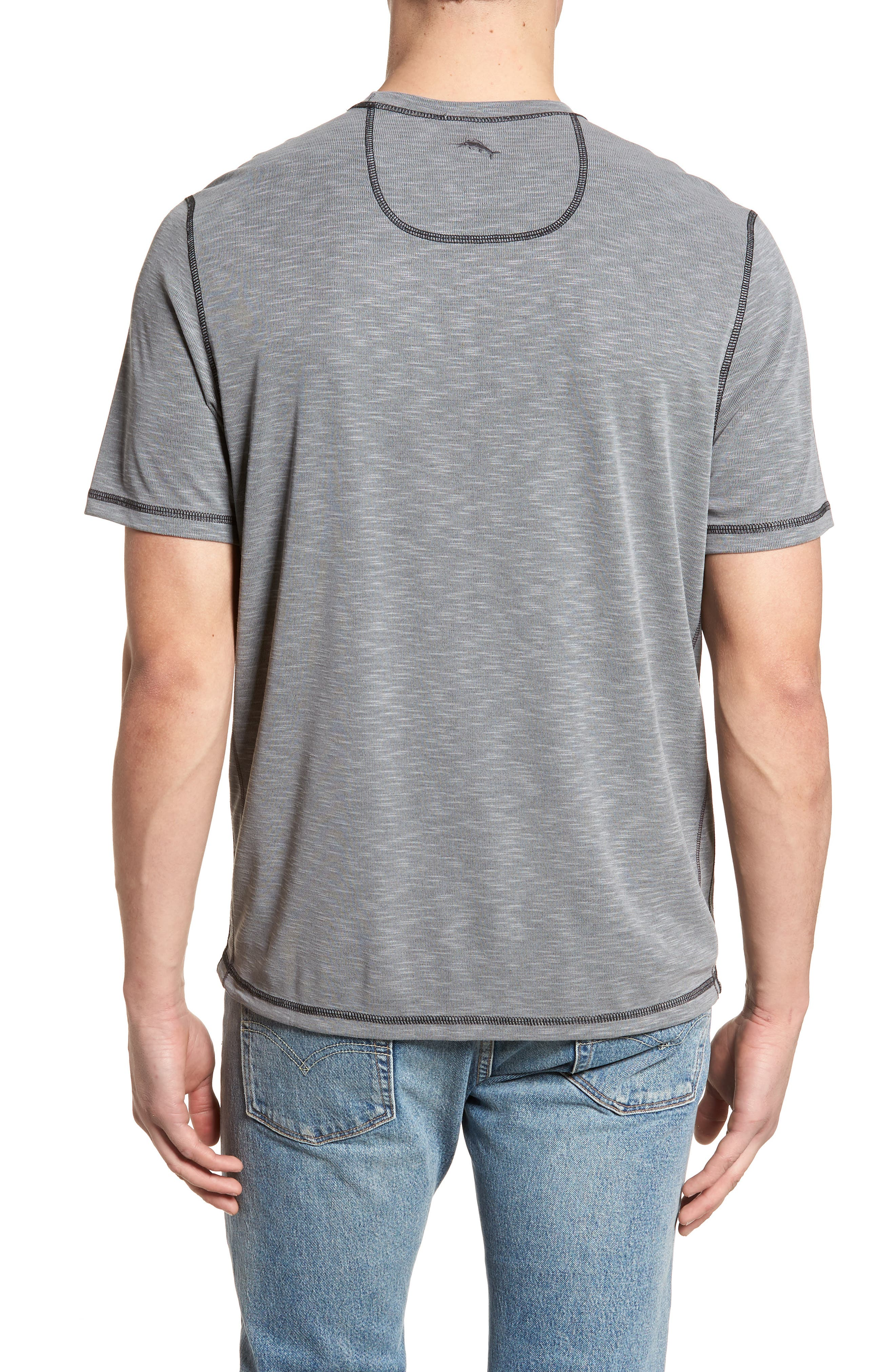 Flip Tide T-Shirt,                             Alternate thumbnail 2, color,                             COAL