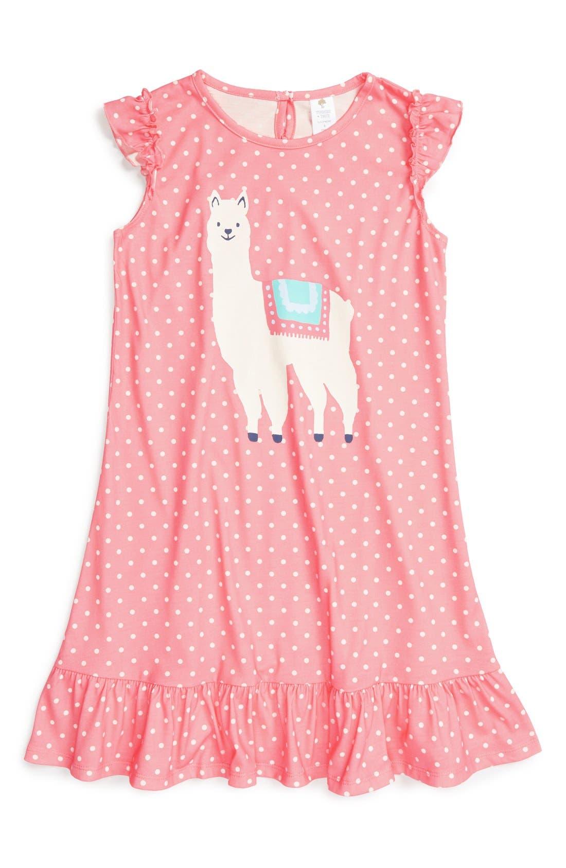 Ruffle Nightgown,                             Main thumbnail 7, color,