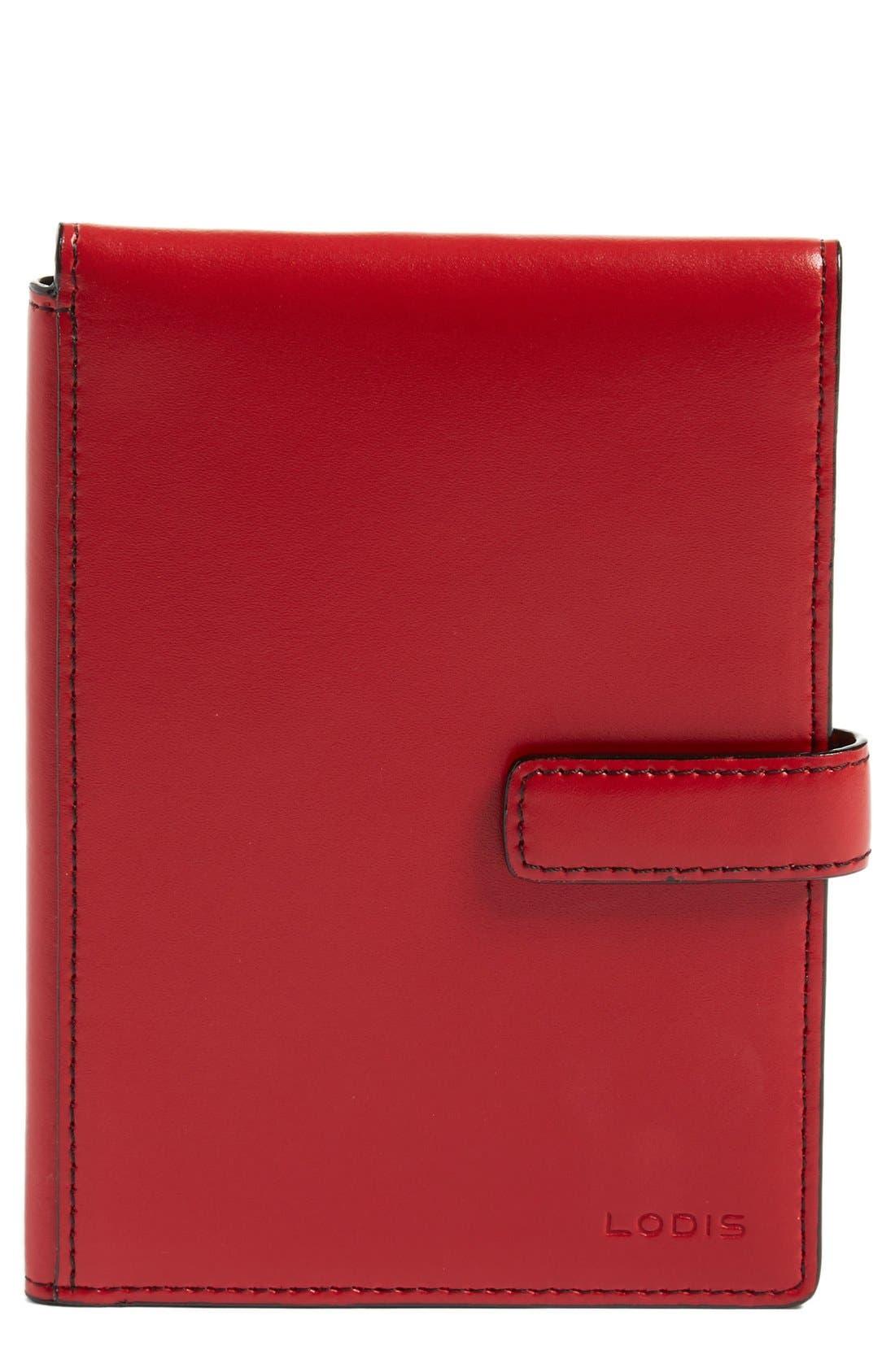 Audrey RFID Leather Passport Wallet,                             Main thumbnail 8, color,