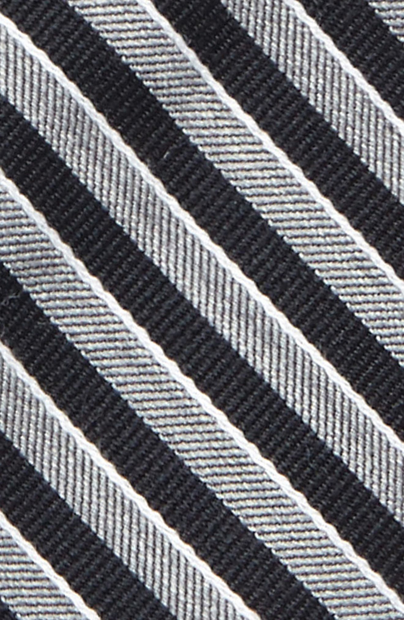 Stripe Wool & Silk Tie,                             Alternate thumbnail 2, color,                             001