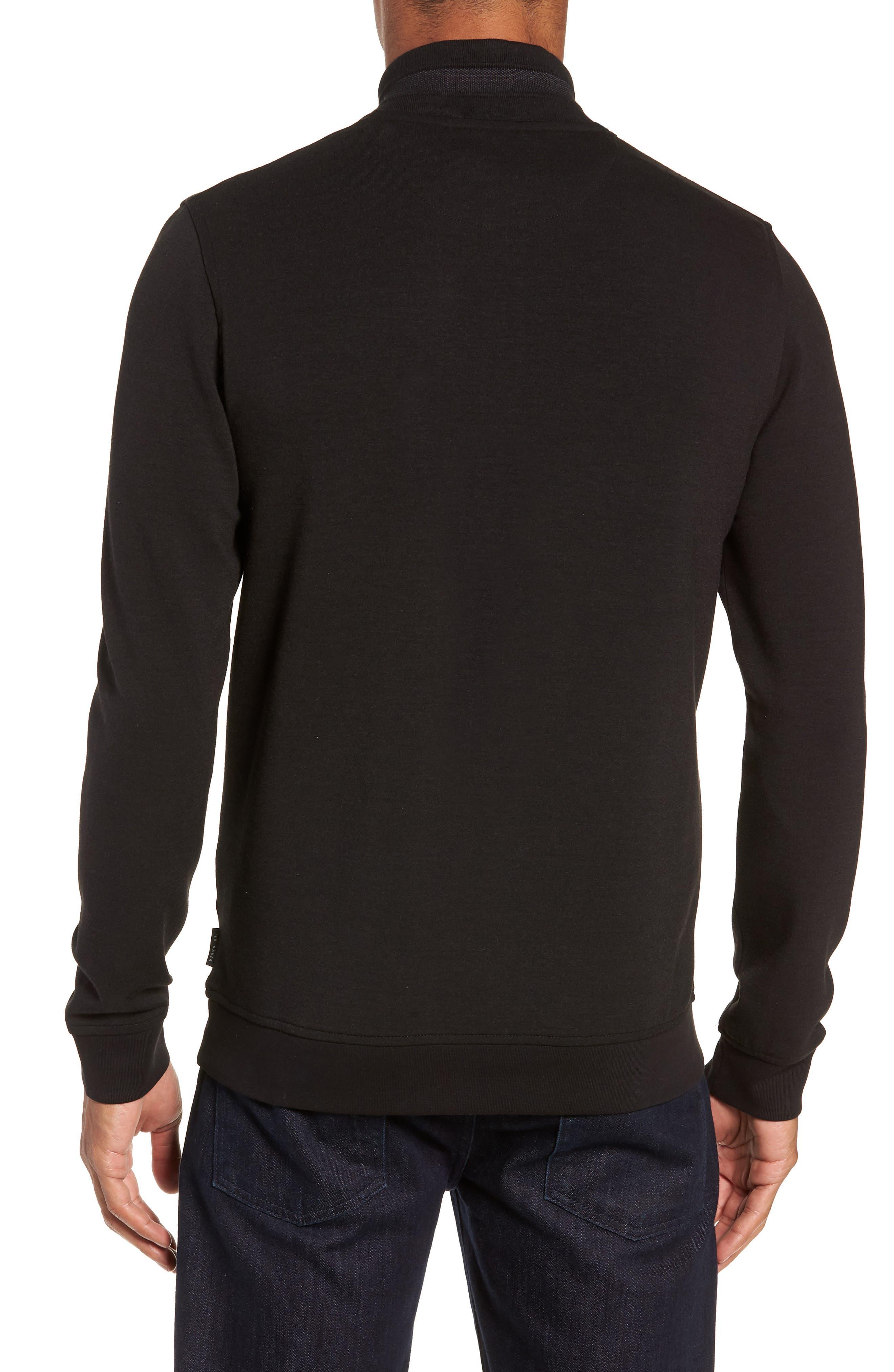 Peper Trim Fit Half Zip Pullover,                             Alternate thumbnail 2, color,                             001