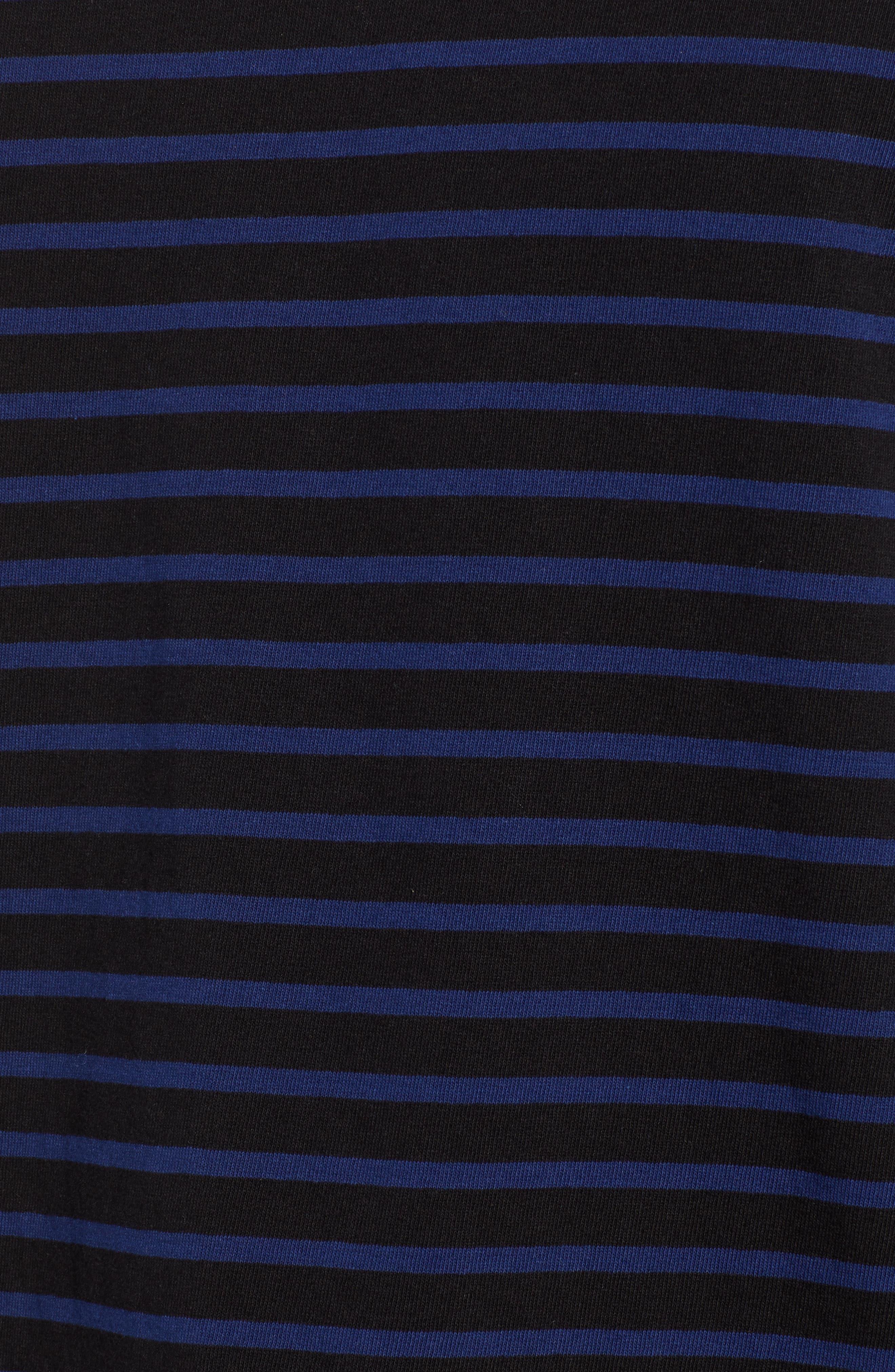 Starkon Stripe T-Shirt,                             Alternate thumbnail 5, color,                             DARK BLACK/ IMPERIAL BLUE