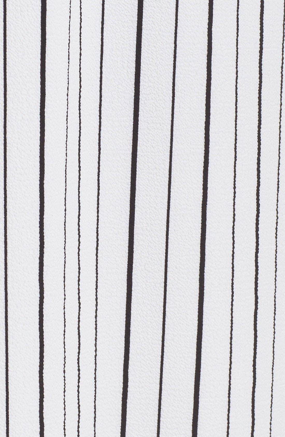 Stripe Sleeveless Midi Shirtdress,                             Alternate thumbnail 3, color,                             100