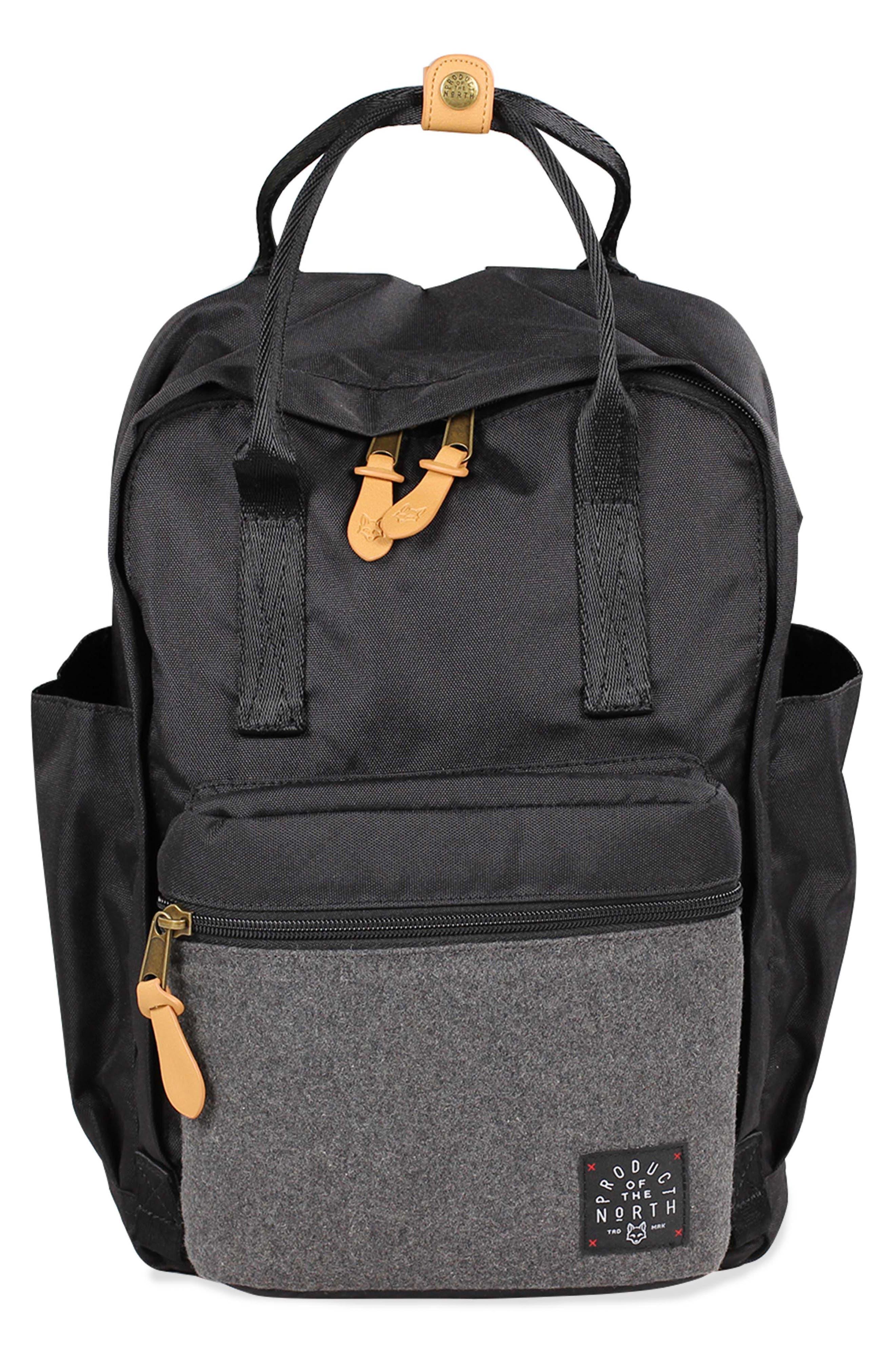 Elkin Diaper Backpack,                             Main thumbnail 1, color,                             BLACK