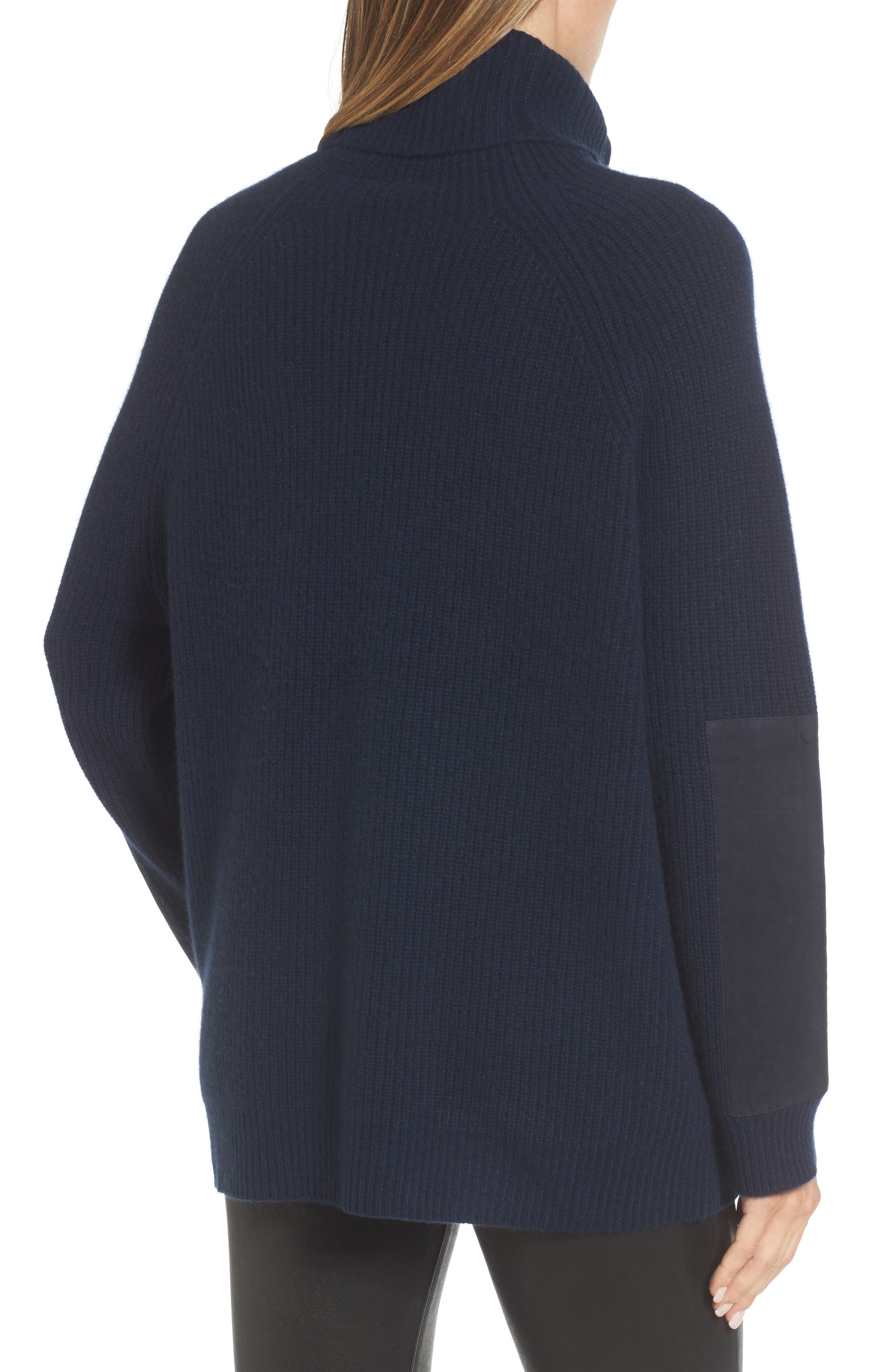 Suede Patch Cashmere Sweater,                             Alternate thumbnail 2, color,                             410