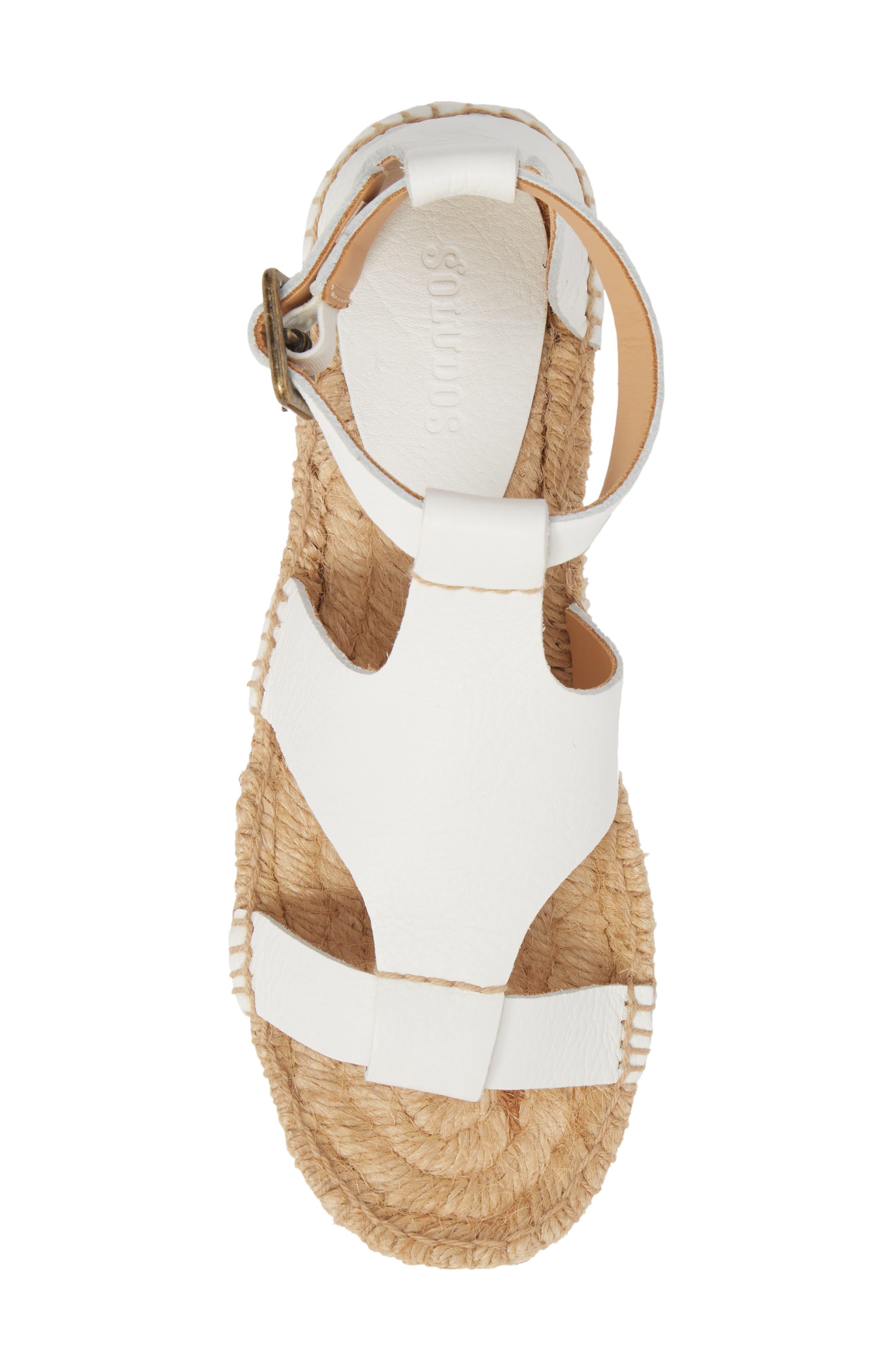 Espadrille Platform Sandal,                             Alternate thumbnail 5, color,                             100