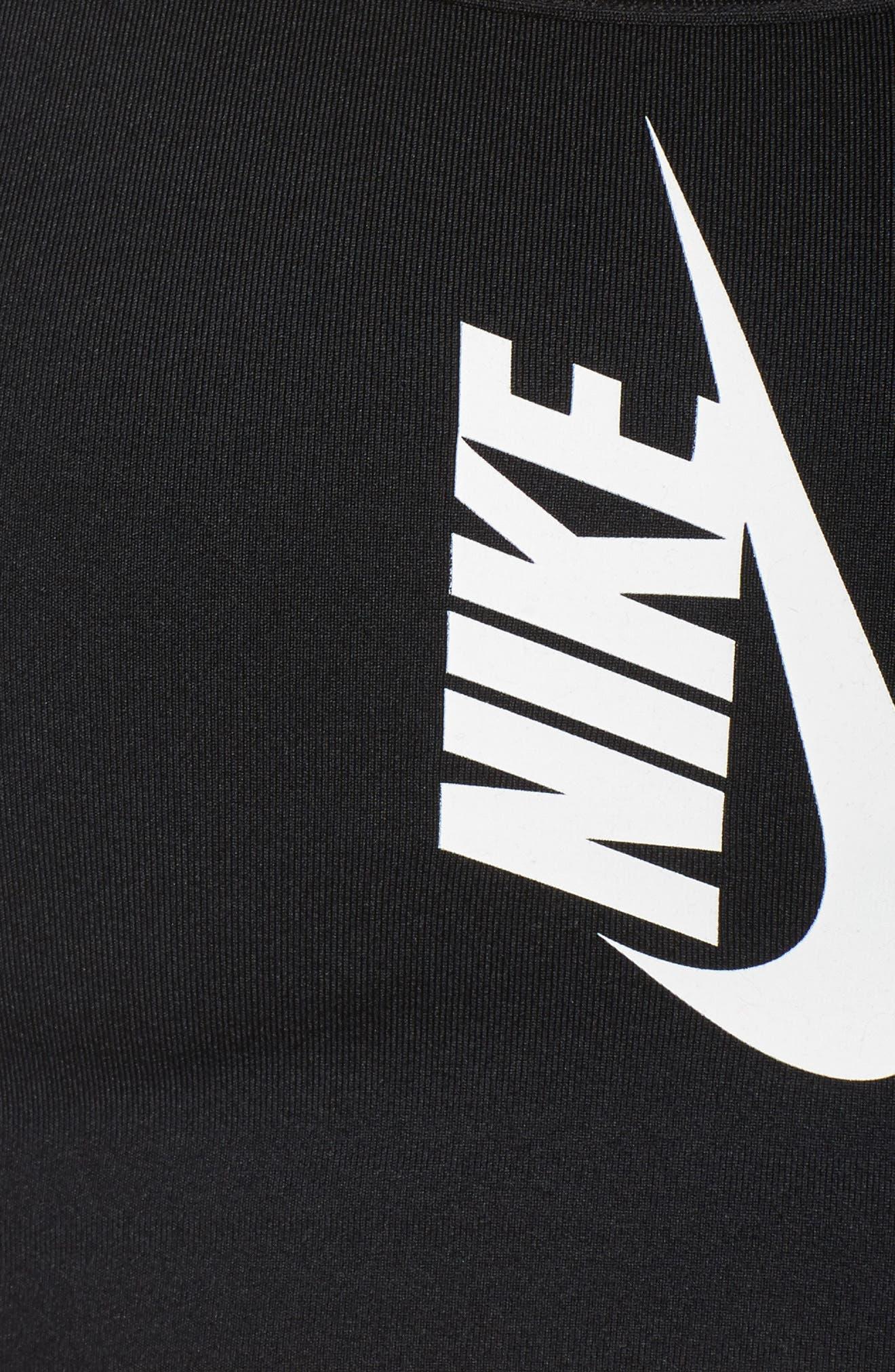NikeLab Sports Bra,                             Alternate thumbnail 6, color,                             BLACK/ WHITE