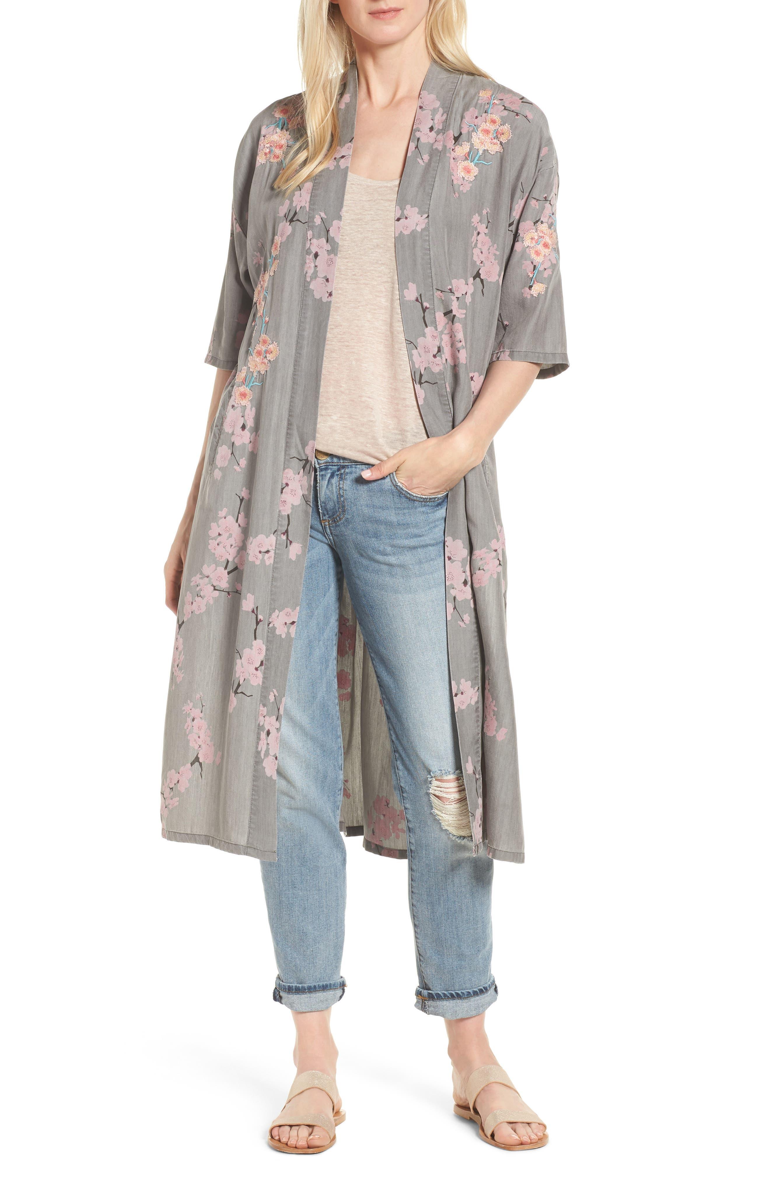 Cherry Blossom Kimono,                             Main thumbnail 1, color,                             020