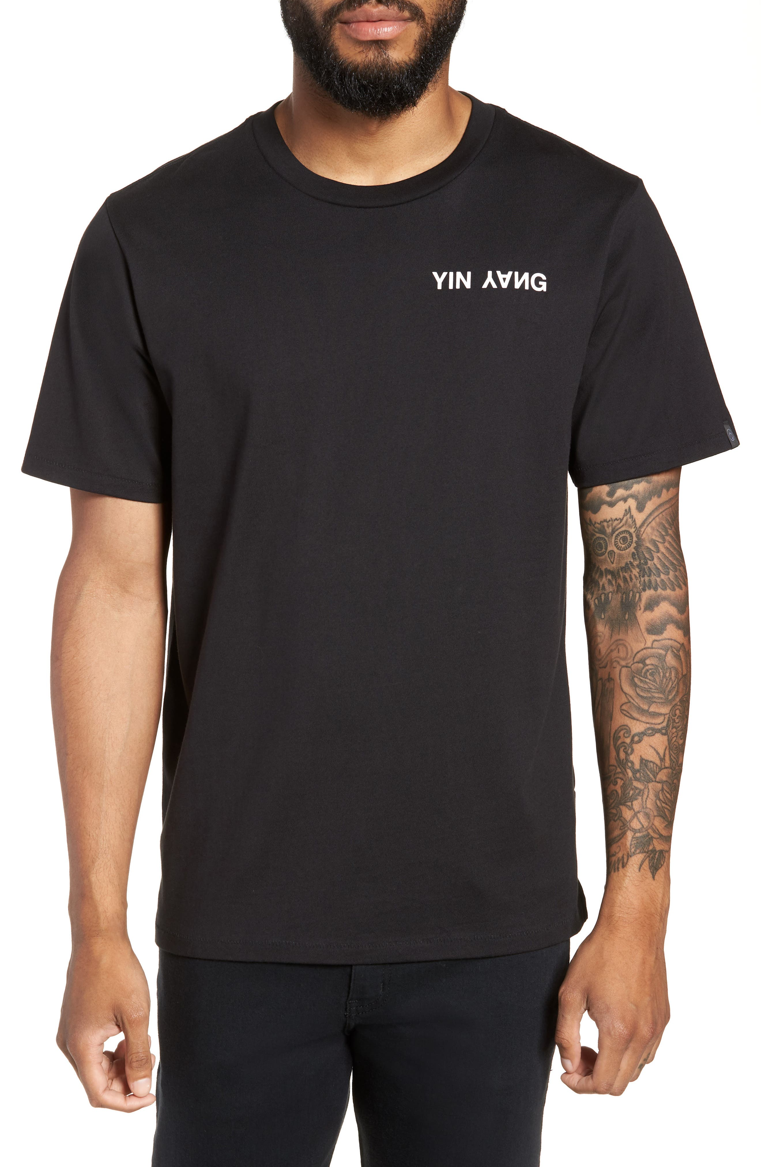 Yin Yang Graphic T-Shirt,                             Main thumbnail 1, color,                             001