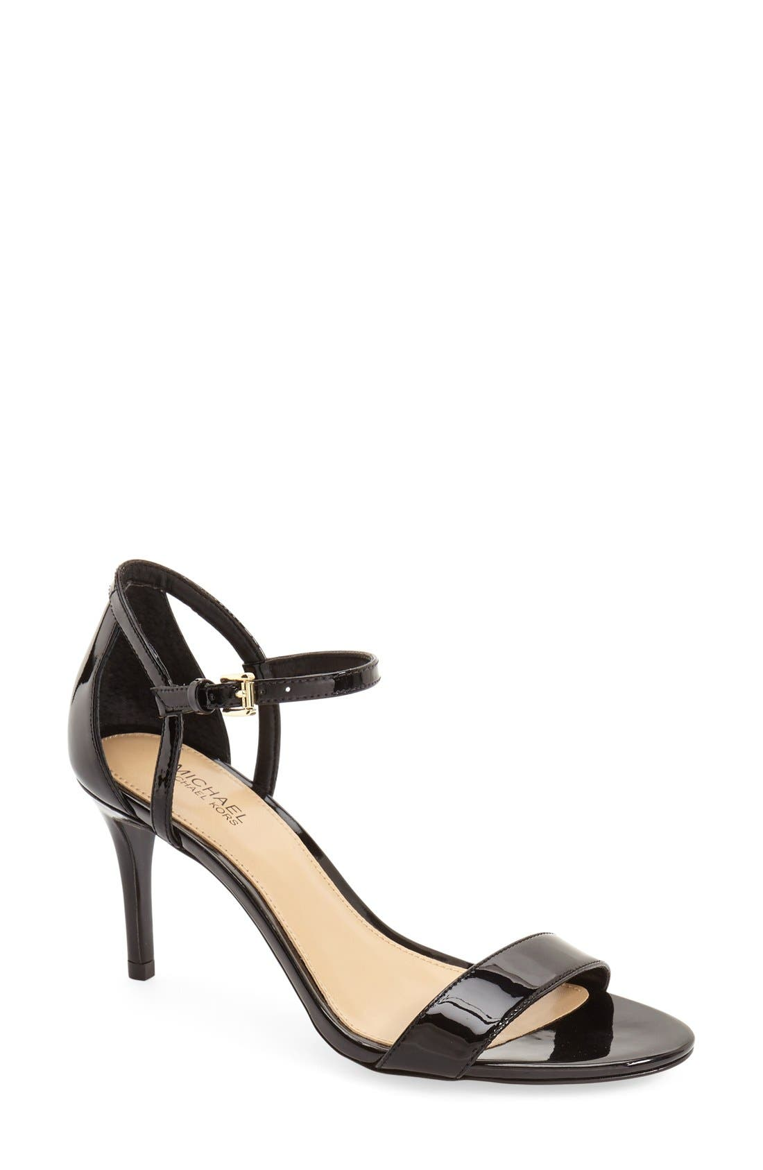 Simone Ankle Strap High-Heel Sandals in Black