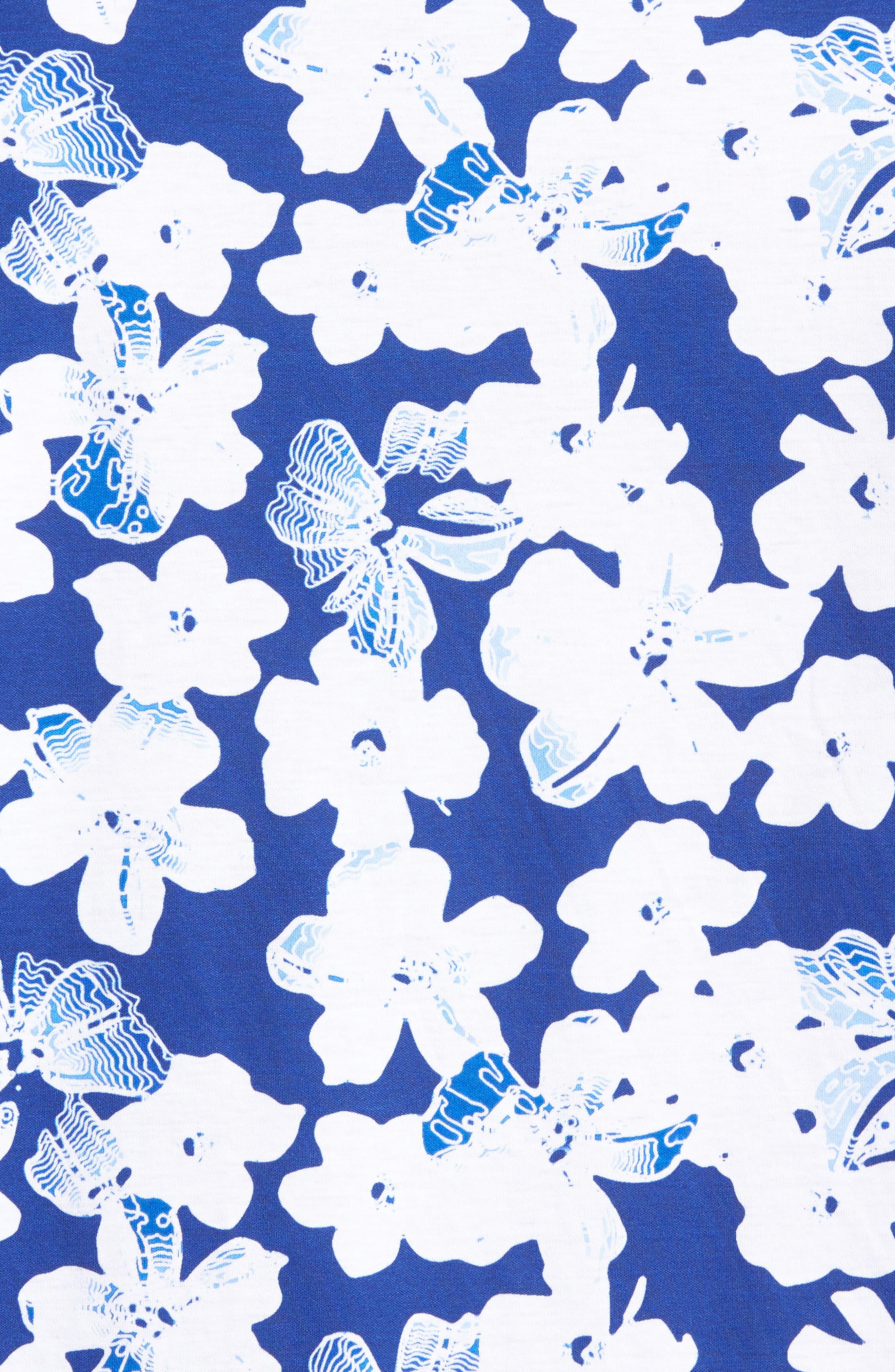 Classic Fit Floral Blueprint Polo,                             Alternate thumbnail 5, color,                             419