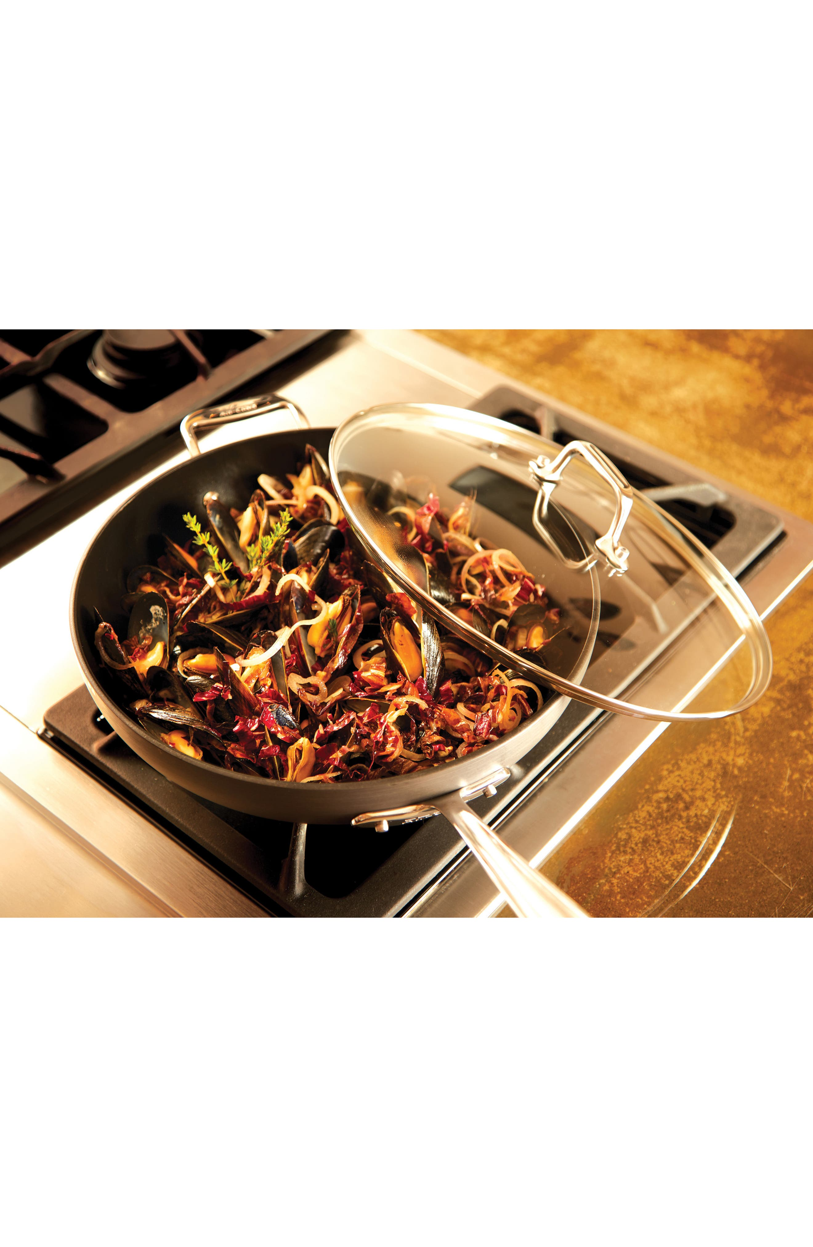 ALL-CLAD,                             12-Inch Hard Anodized Aluminum Nonstick Chef's Pan,                             Alternate thumbnail 2, color,                             BLACK