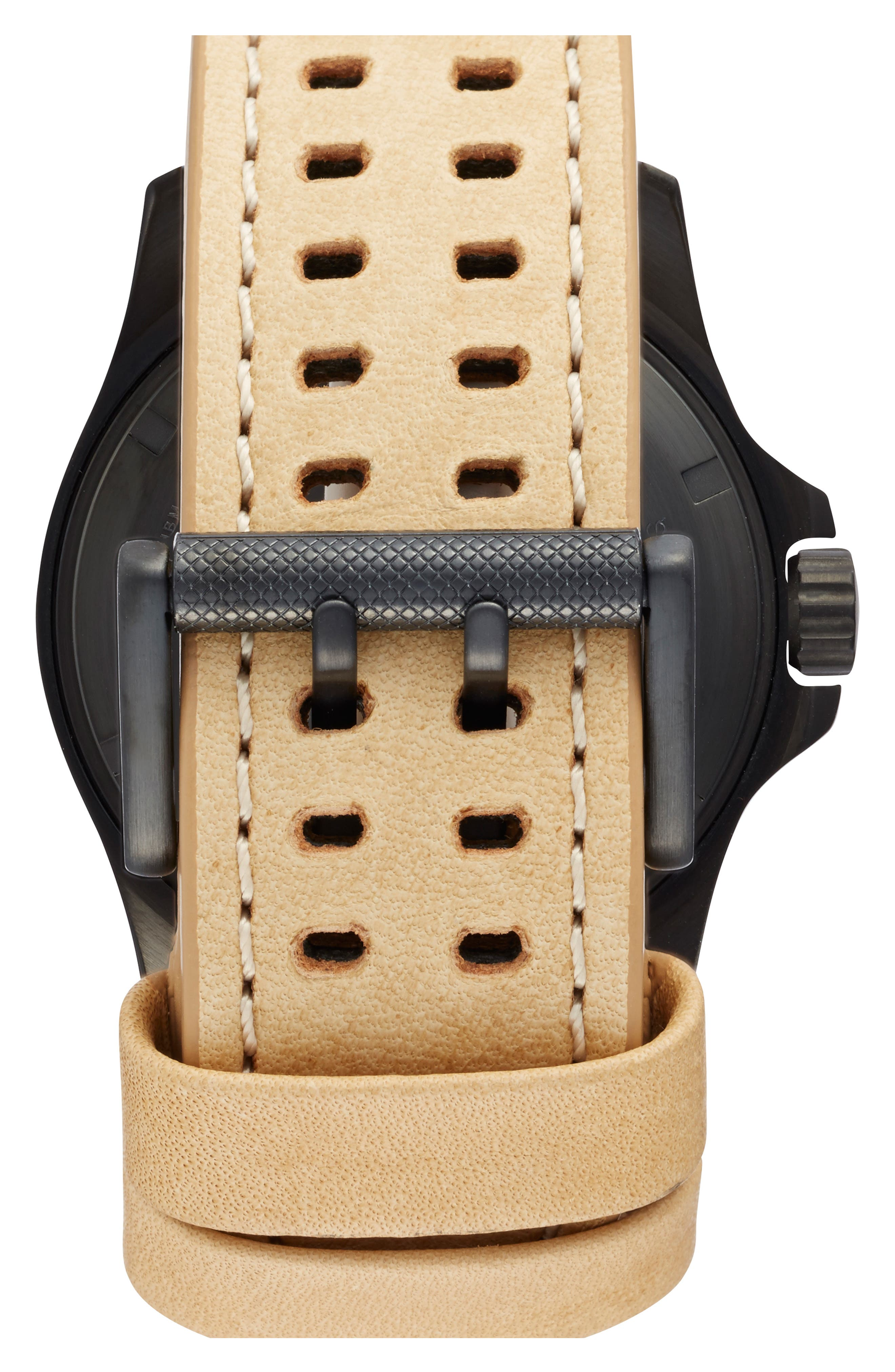 'Land - Atacama Field' Leather Strap Watch, 45mm,                             Alternate thumbnail 8, color,