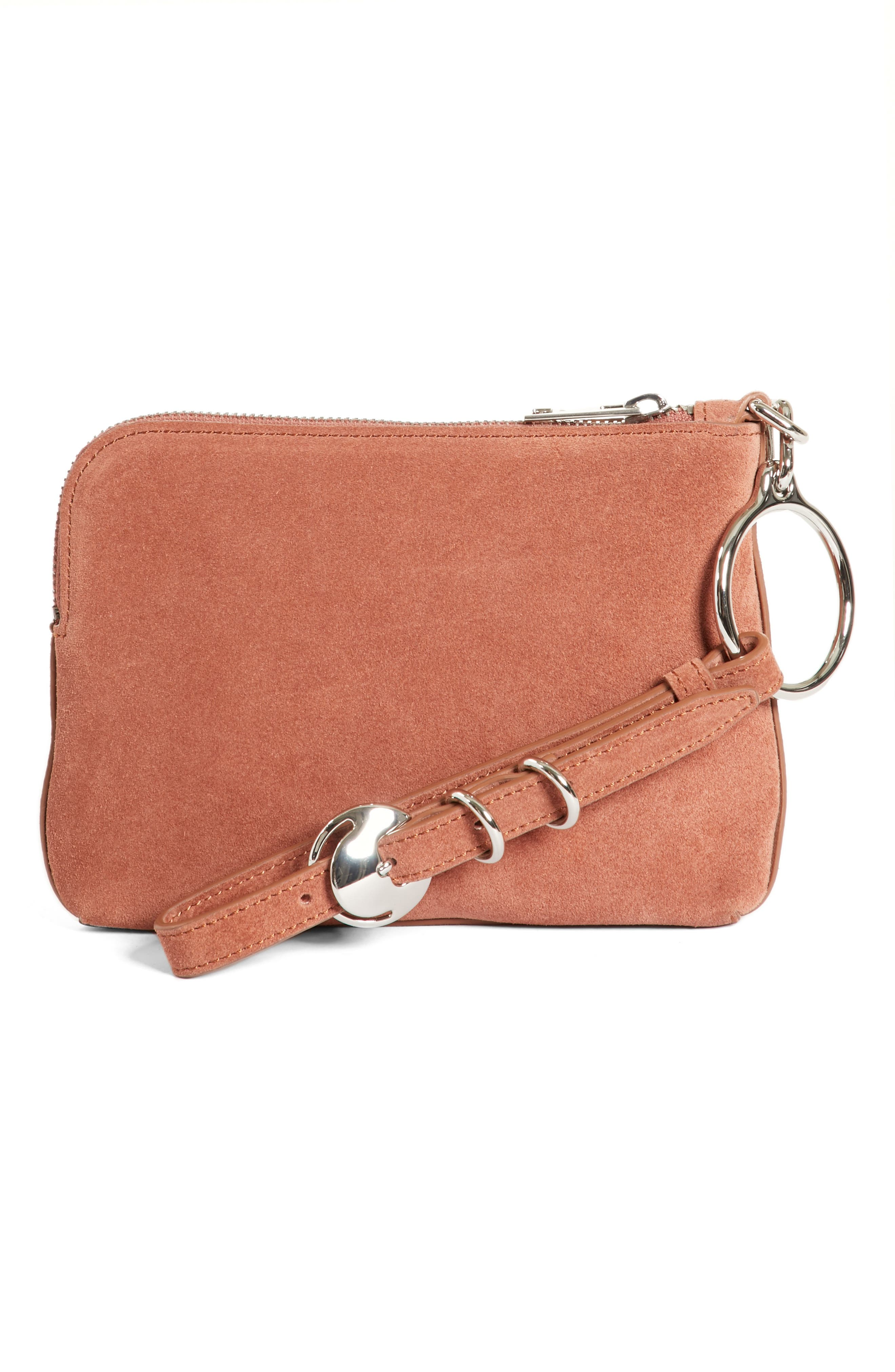 Small Ace Suede Wristlet,                             Alternate thumbnail 4, color,                             200