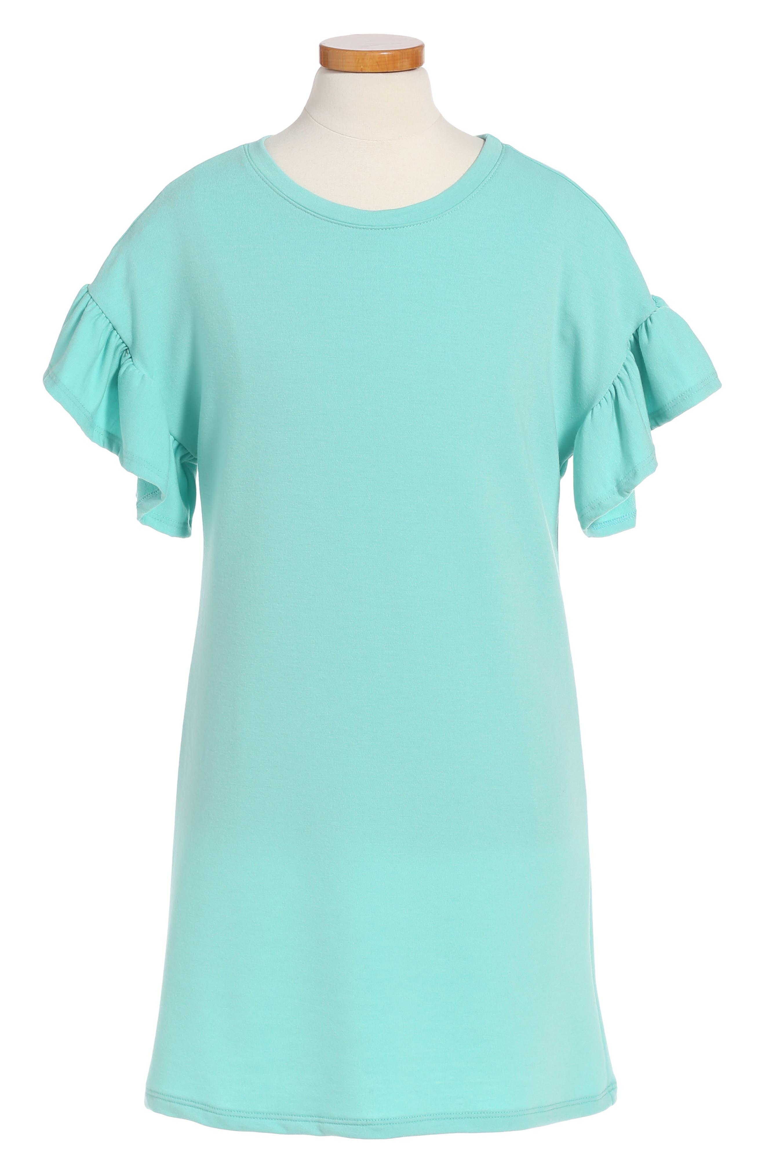 Ruffle Sleeve Dress,                             Main thumbnail 1, color,                             310