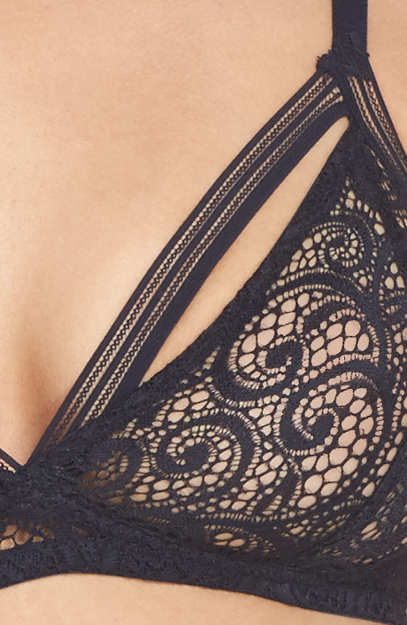 Soft Cup Triangle Bralette,                             Alternate thumbnail 4, color,                             401