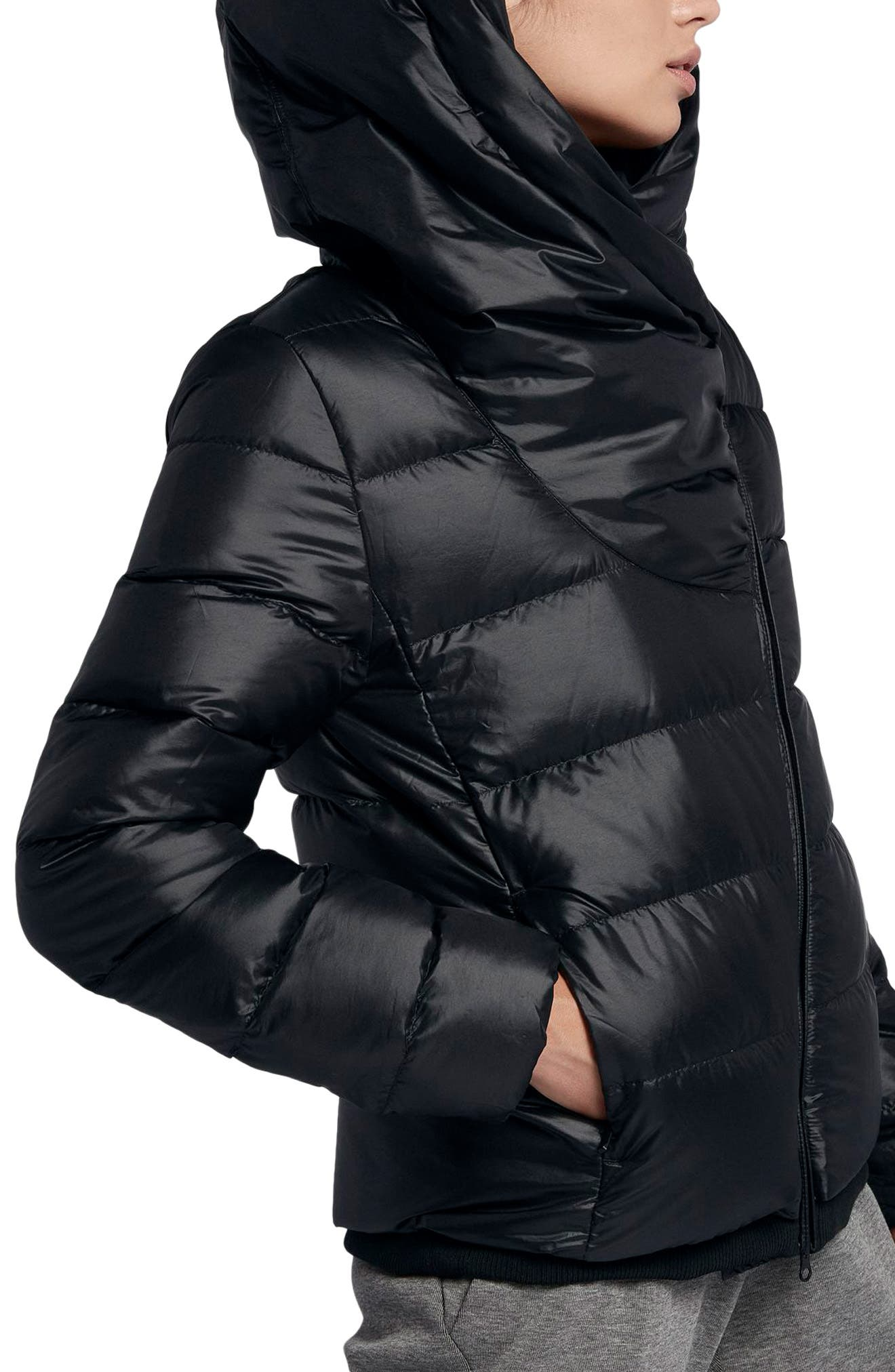Sportswear Women's Hooded Down Jacket,                             Alternate thumbnail 3, color,                             010