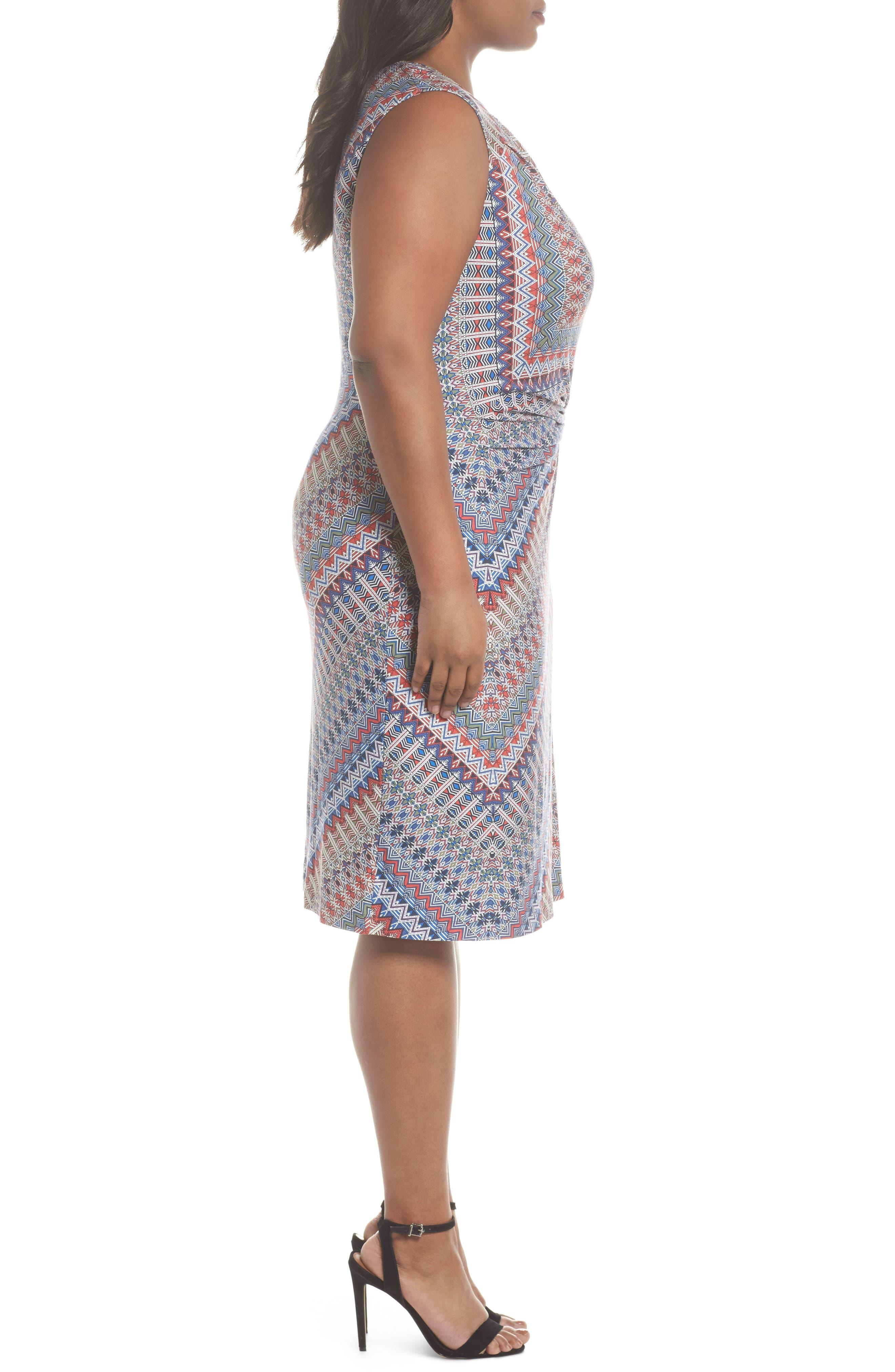 Zigzag Twist Dress,                             Alternate thumbnail 3, color,                             609